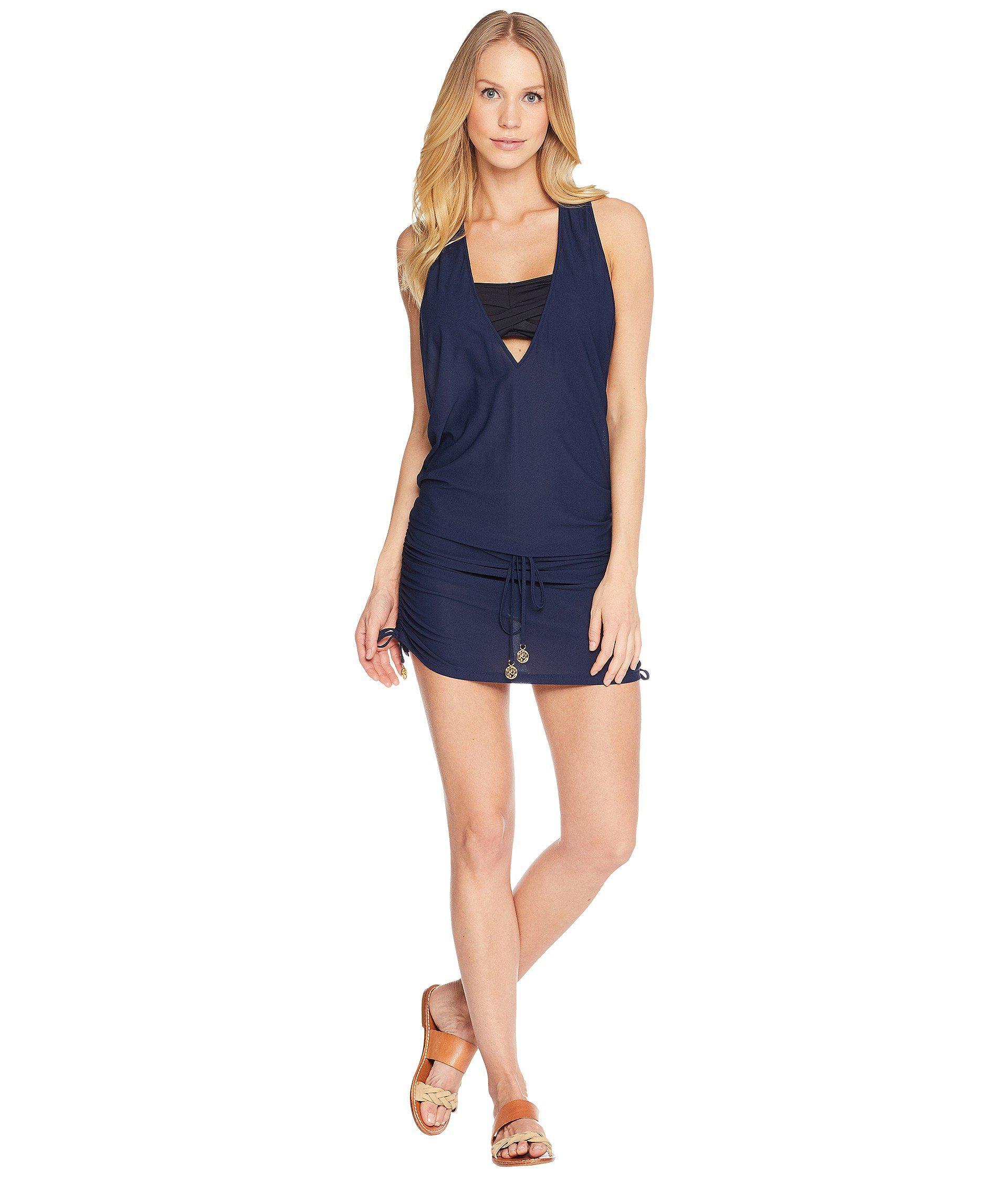 19d817b28b9b3 Luli Fama. Cosita Buena T-back Mini Dress Cover-up (electric Blue) Women's  Swimwear