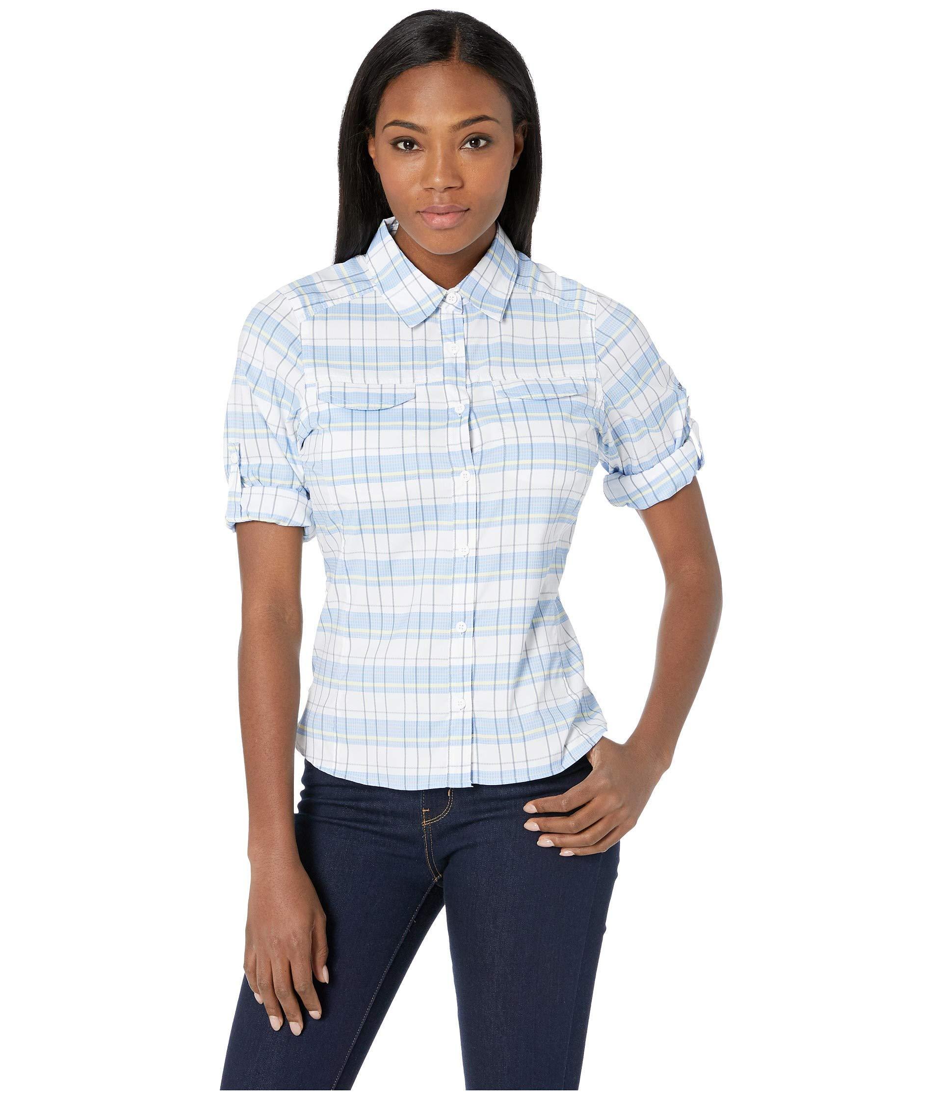 e035321b5a9 Columbia Womens Silver Ridge Plaid Long Sleeve Shirt - DREAMWORKS