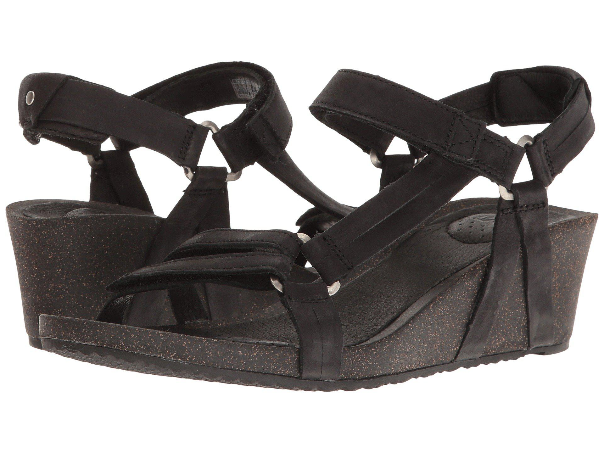 a2c6f41af79b Lyst - Teva Ysidro Stitch Wedge Sandals in Black - Save 14%