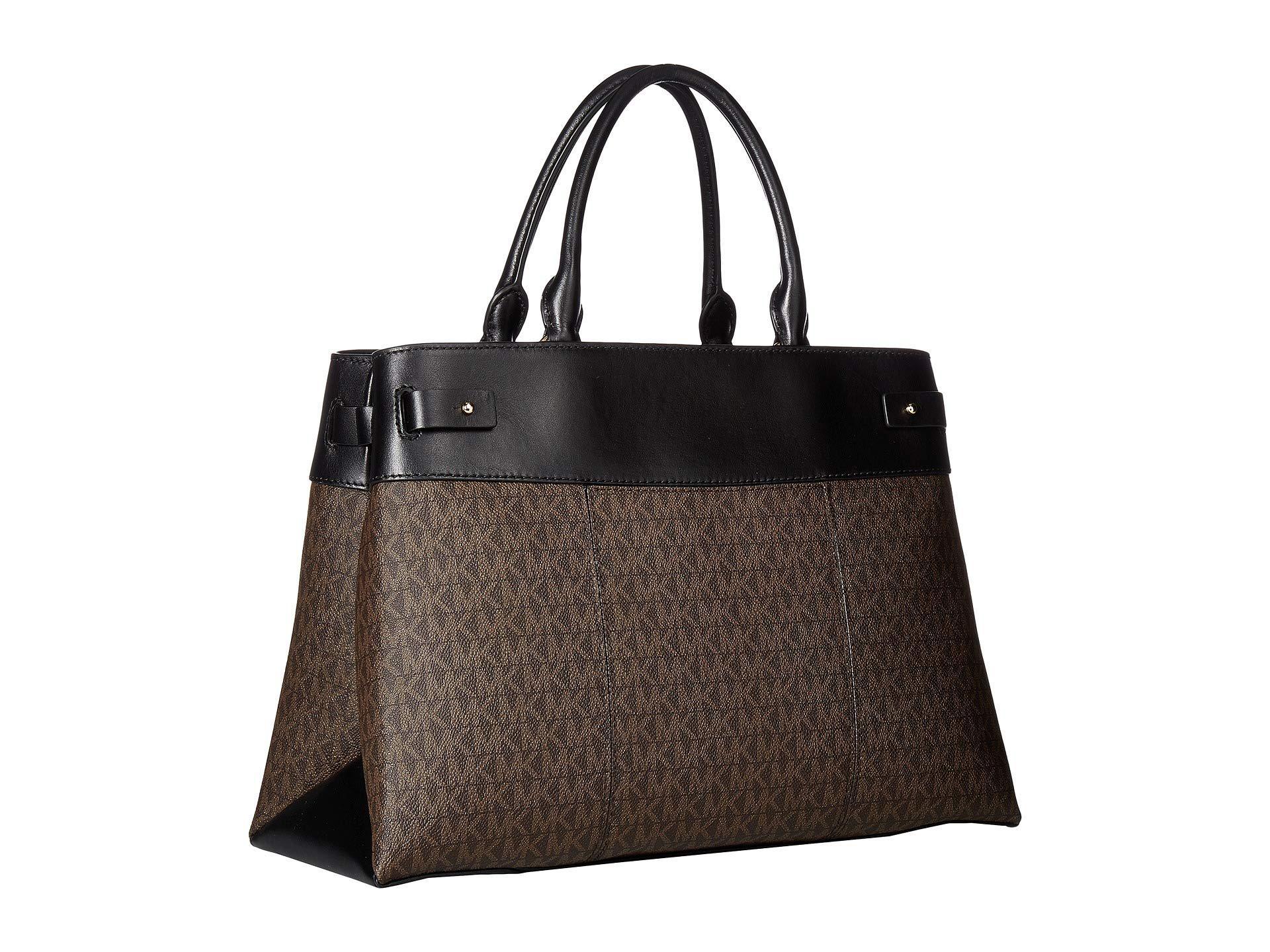 fd0dd4c368ad MICHAEL Michael Kors - Gramercy Large Satchel (brown black) Satchel Handbags  - Lyst. View fullscreen
