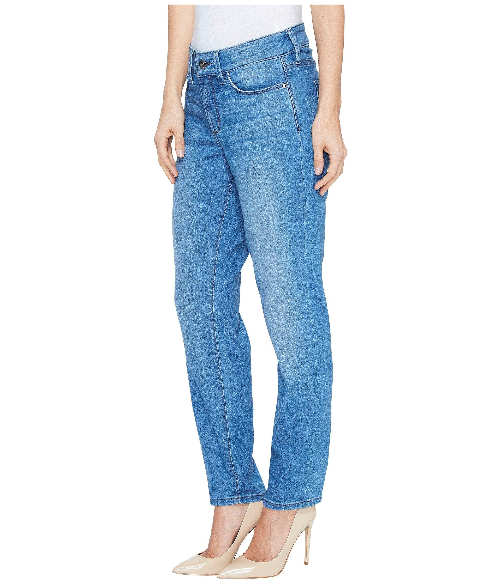 eaa22ef2b9d1 Lyst - NYDJ Alina Convertible Ankle In Jet Stream (jet Stream) Women's Jeans  in Blue - Save 8%