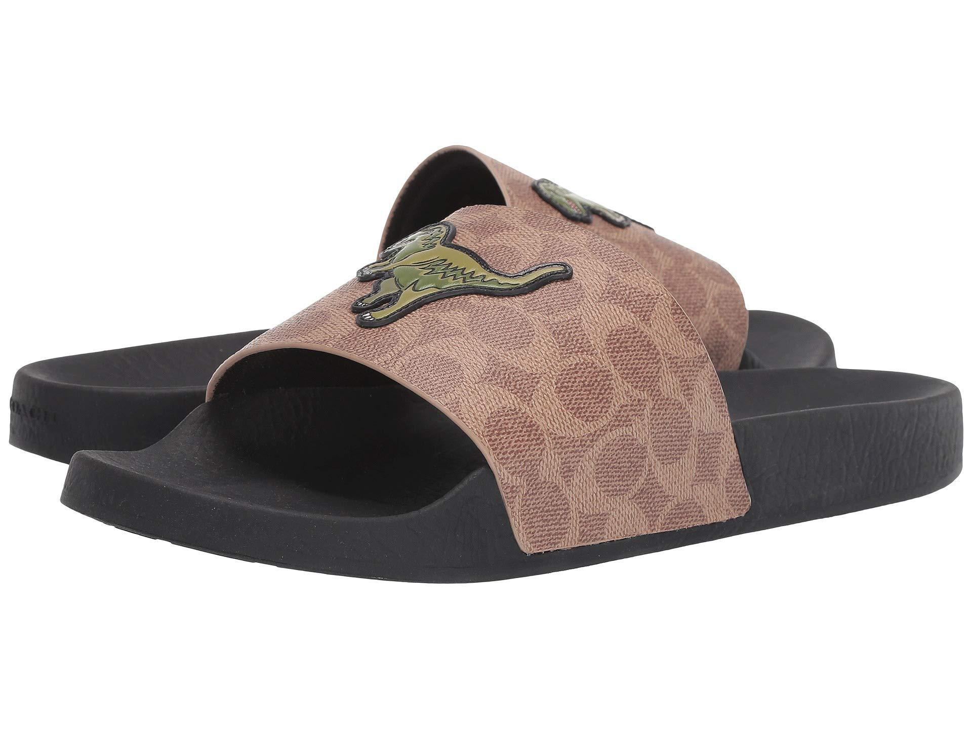 5b46015637d Lyst - COACH Signature C Pvc Rexy Pool Slide (khaki) Men s Sandals ...
