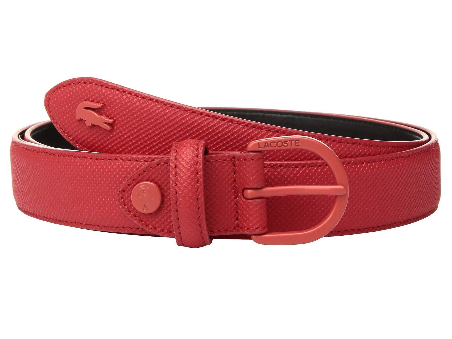 b53deb82c66af Lyst - Lacoste L.12.12 Pique Pvc Belt in Red