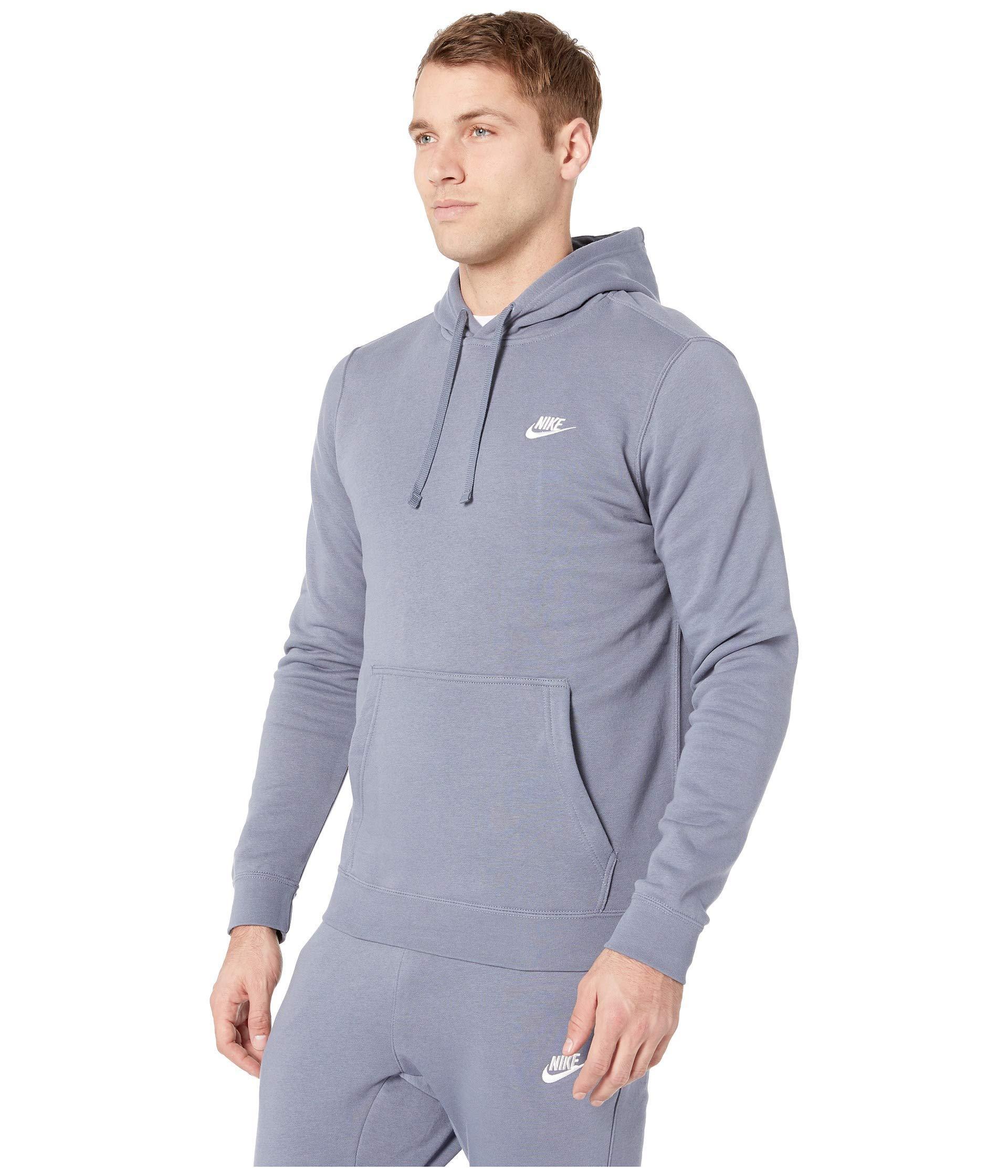 96214ded7be7d7 Lyst - Nike Club Fleece Pullover Hoodie in Blue for Men