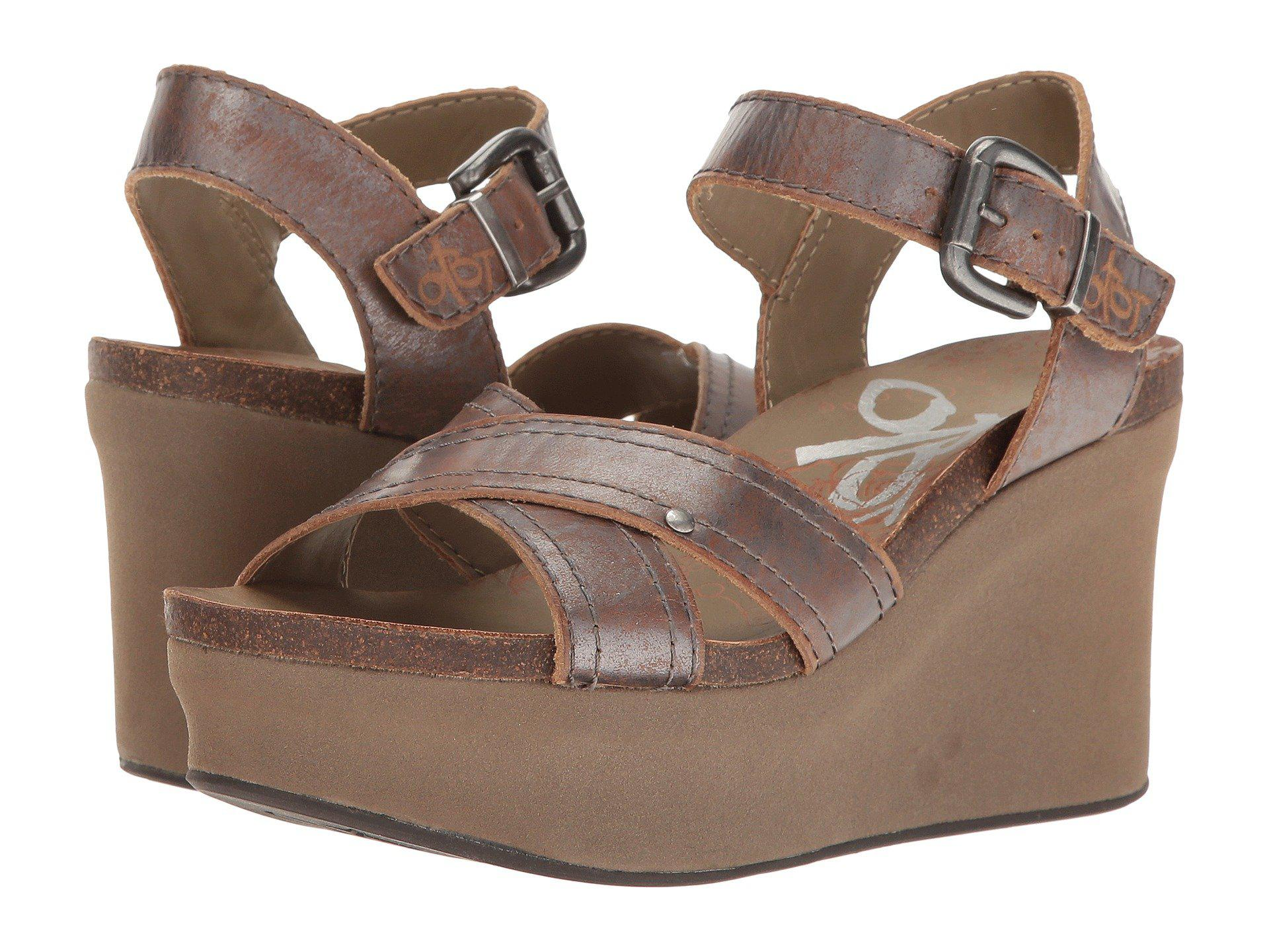 40c34fcc789 Lyst - Otbt Bee Cave (black) Women s Wedge Shoes in Brown