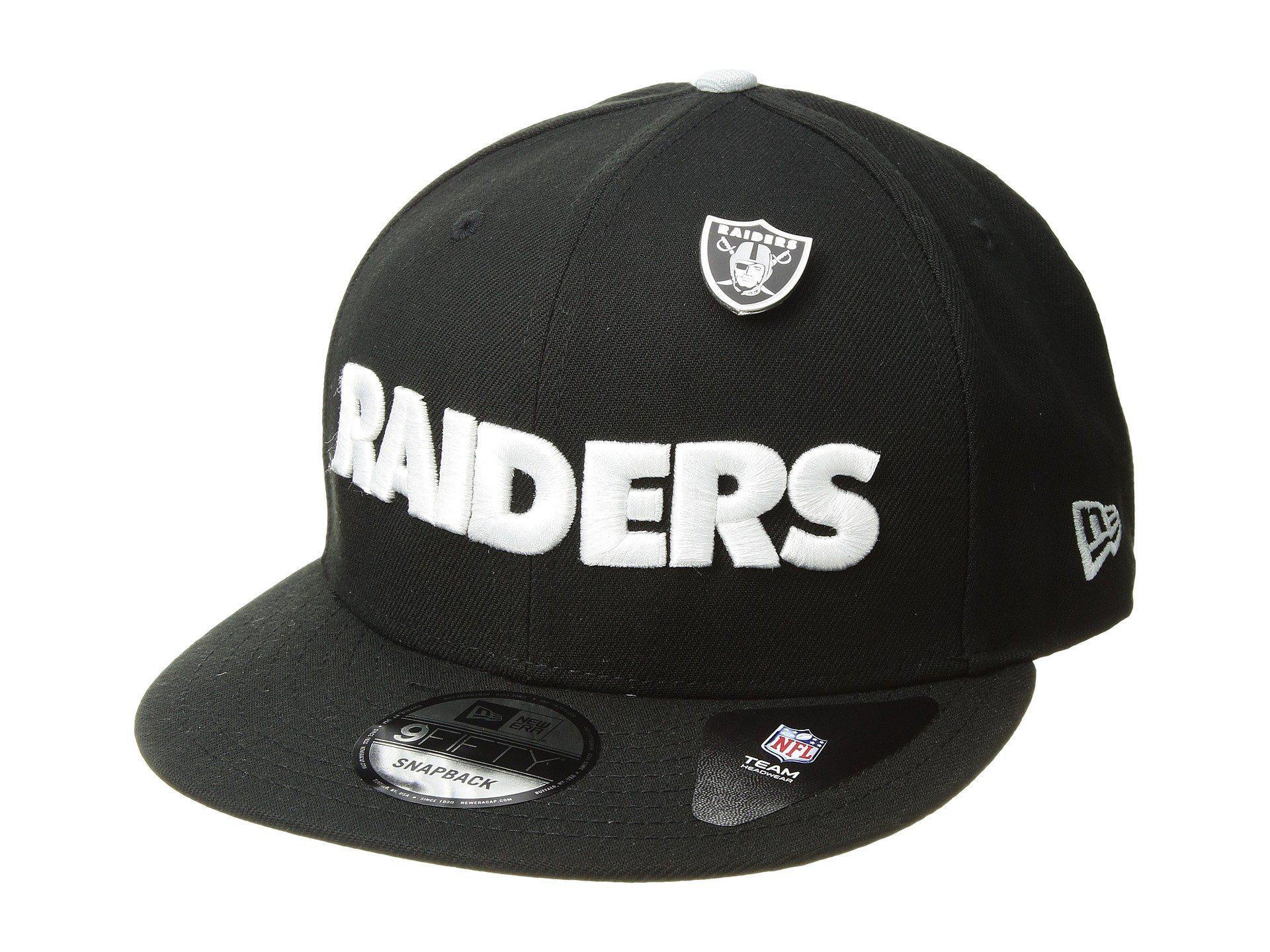 21d53390daa Lyst - Ktz Oakland Raiders Pinned Snap (black) Baseball Caps in ...