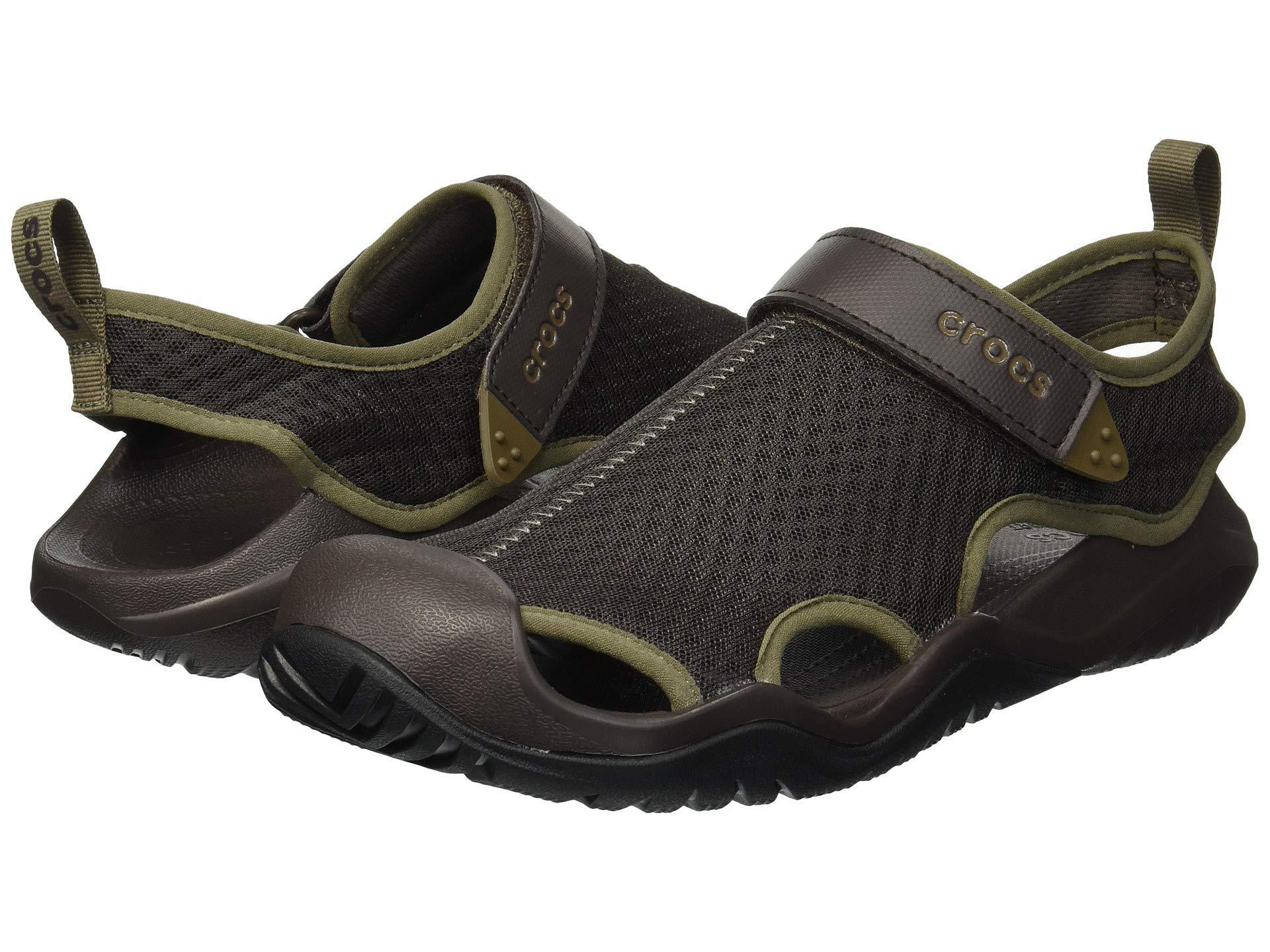 681f2bc46a19 Lyst - Crocs™ Swiftwater Mesh Deck Sandal (black) Men s Sandals in ...