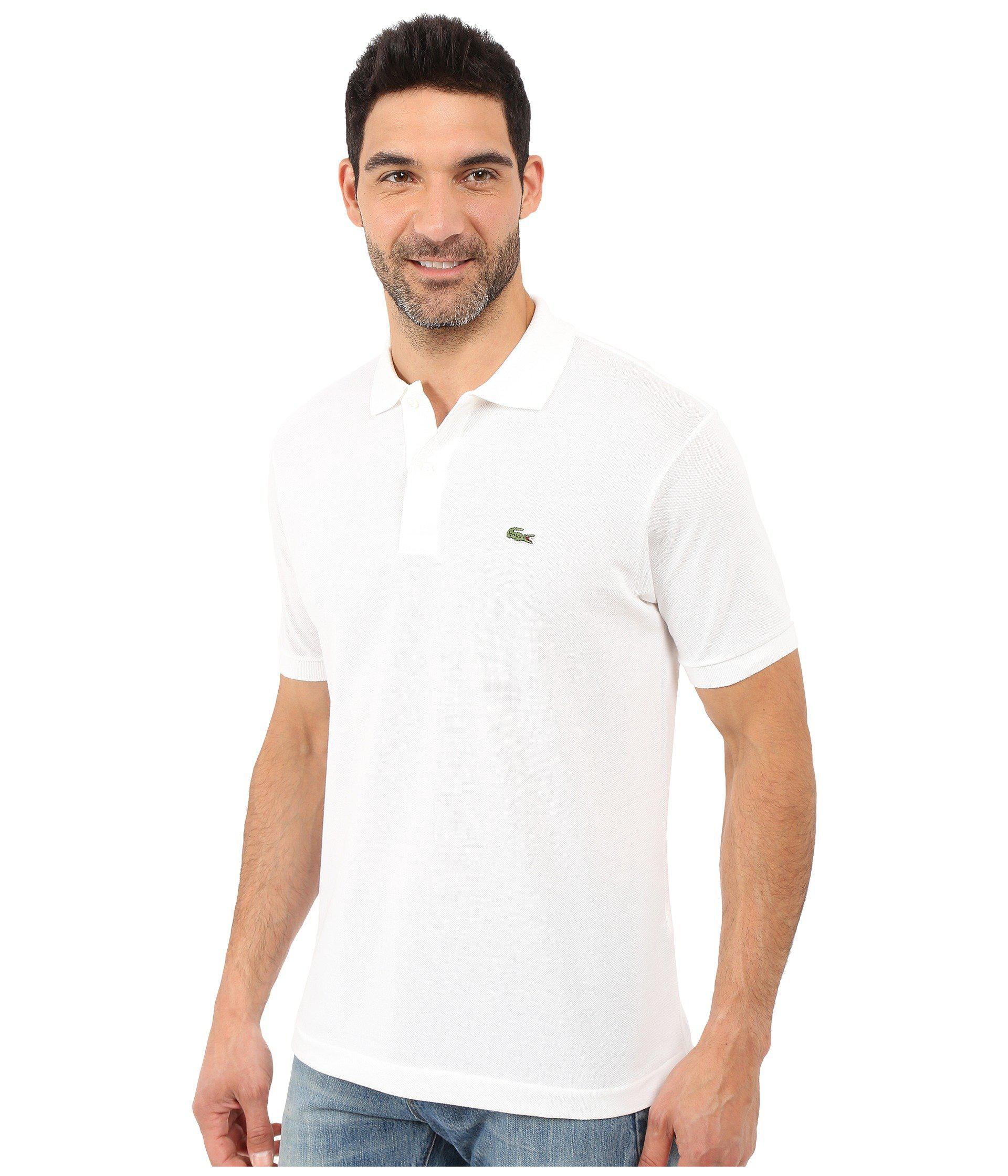 Lyst - Lacoste L1212 Classic Pique Polo Shirt (black) Men s Short Sleeve  Knit in White for Men 9458df1ed74