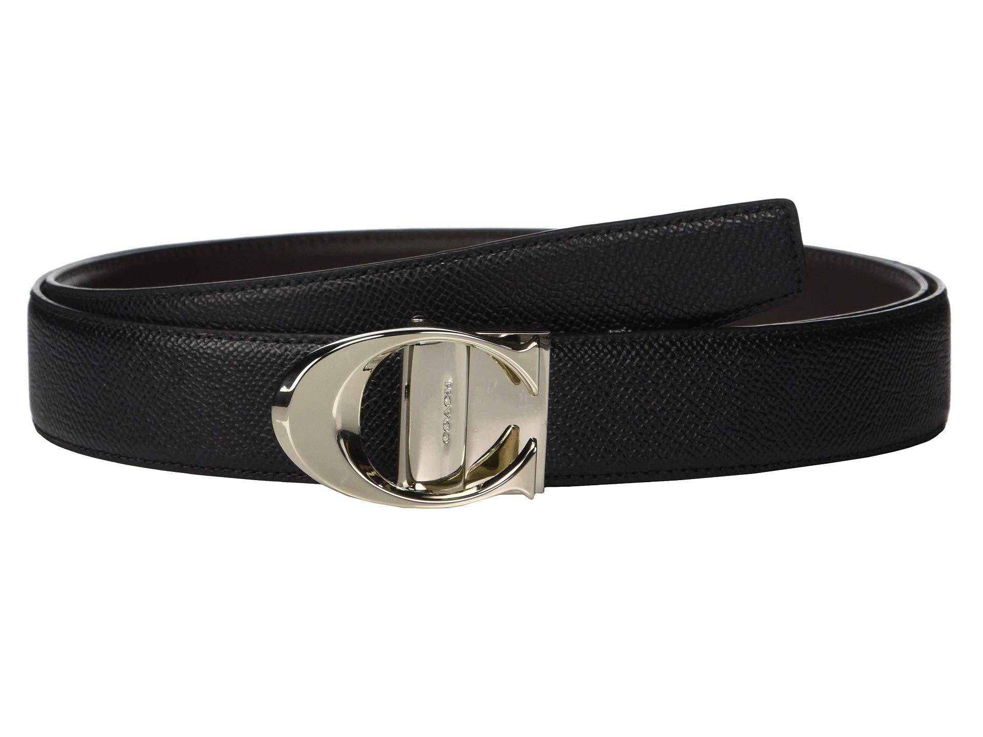 2ac8a99fb66e COACH. Boxed Sculpted C Cut To Size reversible Belt (black) Men s Belts