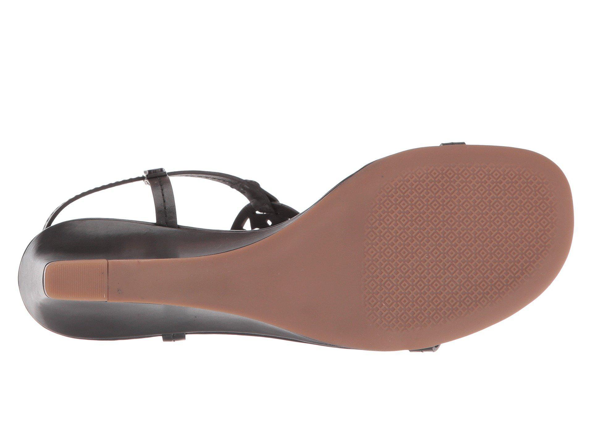 102b6049036 Tory Burch - Black Miller 60mm Wedge Sandal (spark Gold) Women s Wedge Shoes  -. View fullscreen