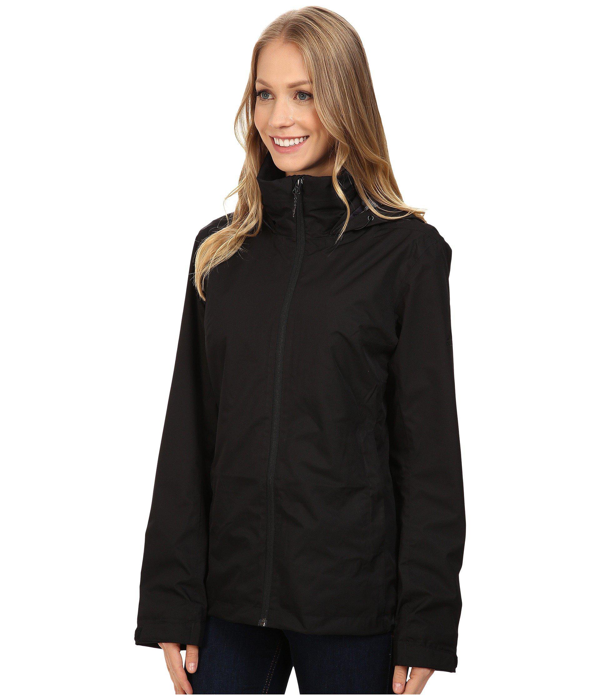 9ca2f9b83c80 Lyst - adidas Originals Wandertag Jacket (legend Ink) Women s Coat in Black  - Save 8%