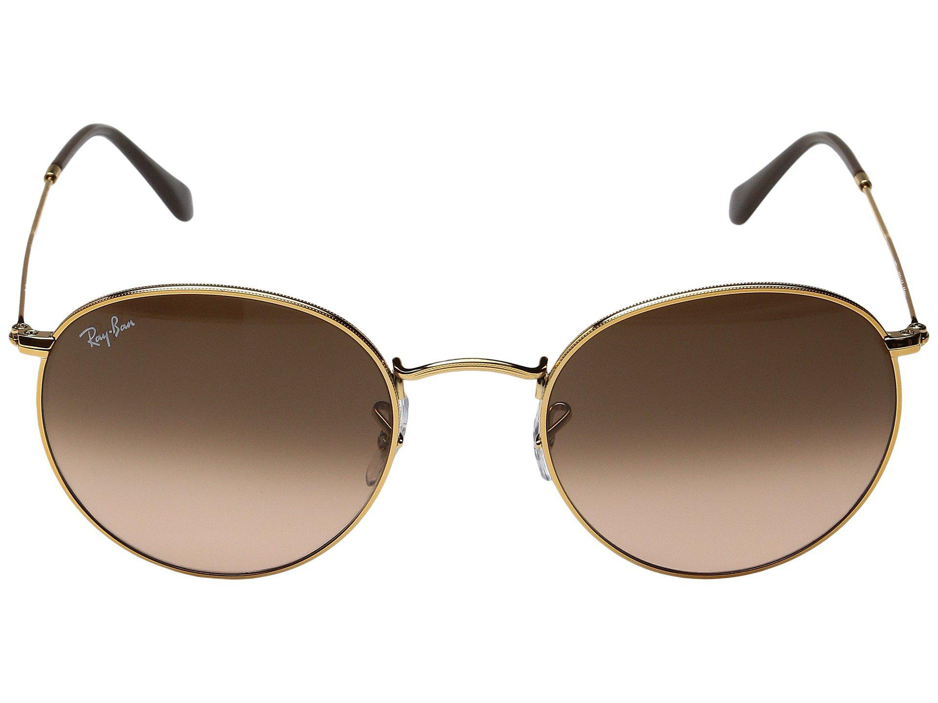ed3d63df84 Ray-Ban - Multicolor 0rb3447 Round Metal Classic 53mm (gold green Gradient).  View fullscreen