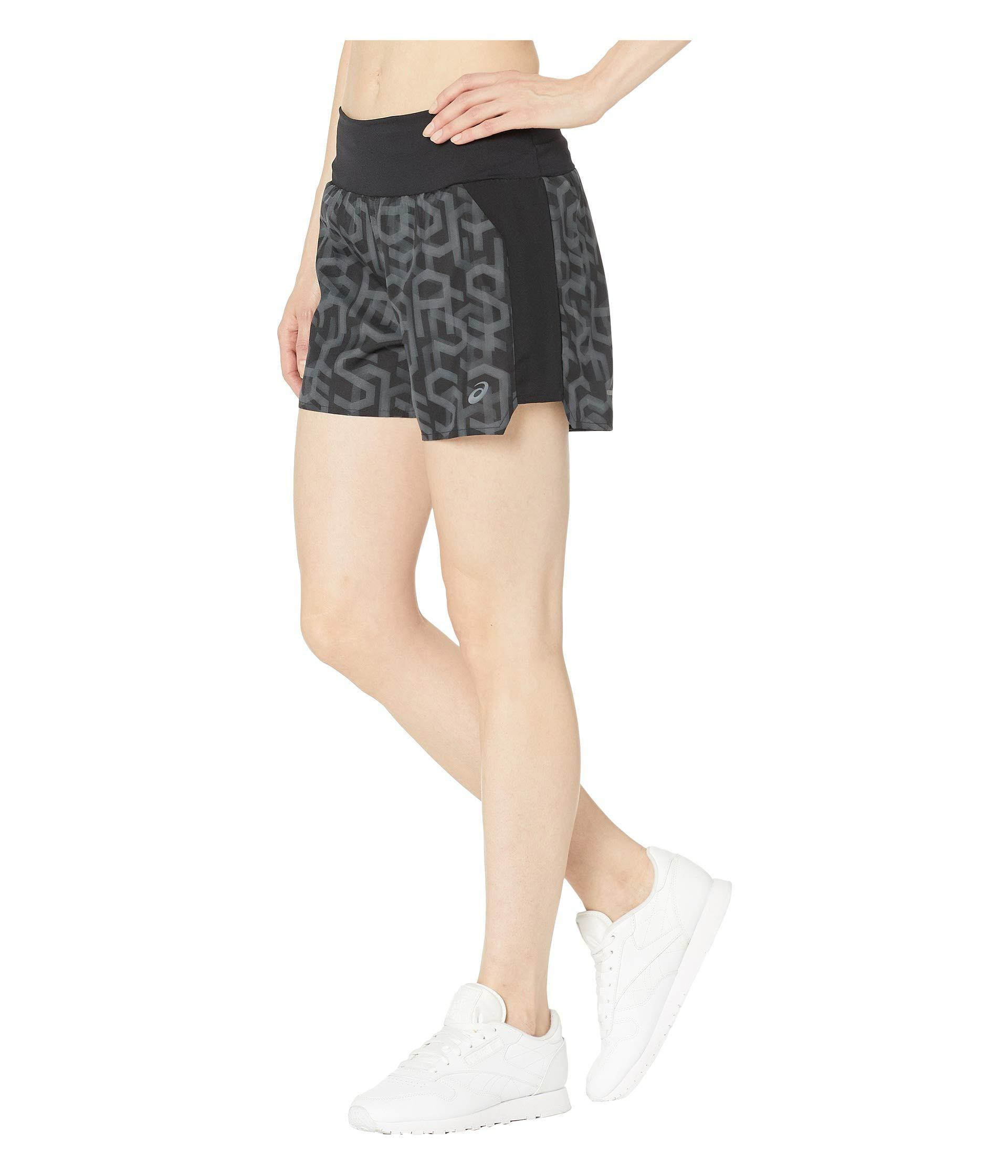 5cf846d67a74 Lyst - Asics 3.5 Printed Shorts (hex Performance Black) Women s Shorts in  Black