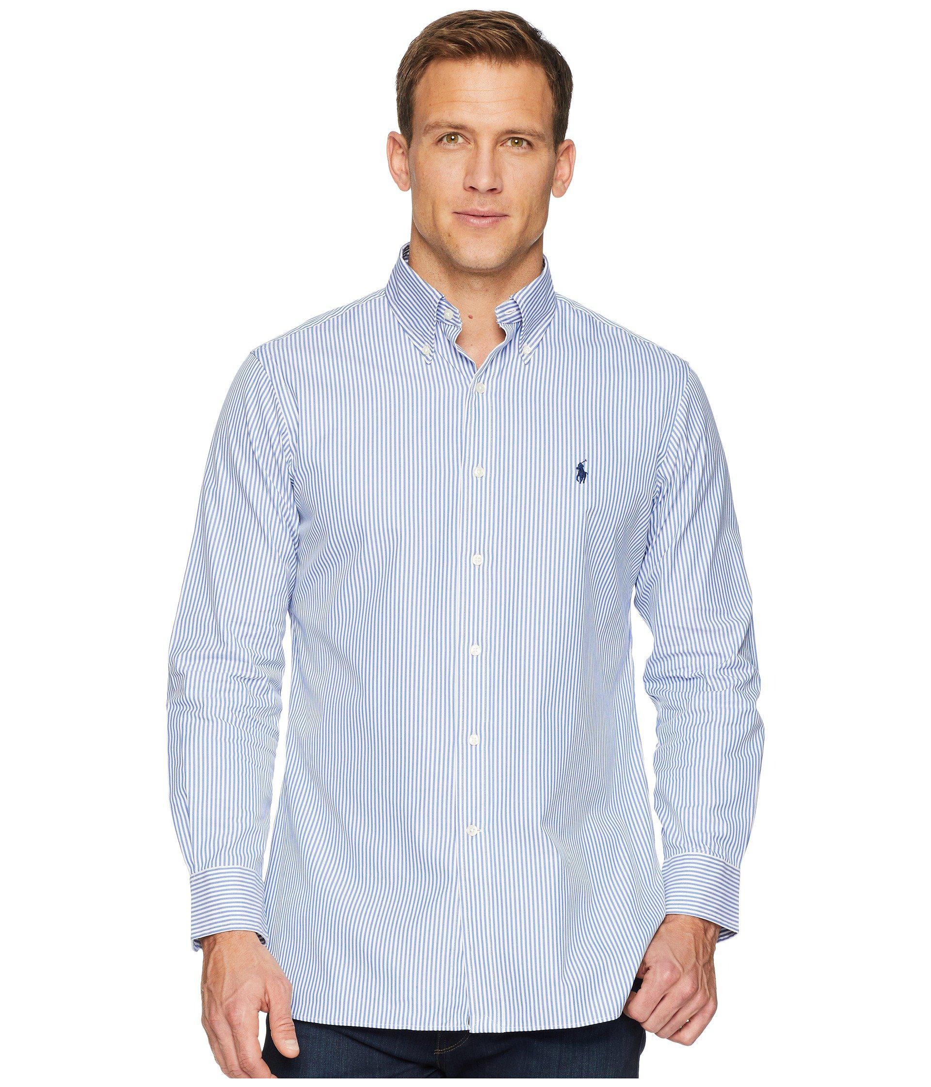 663ba5edc6a9e Polo Ralph Lauren. Blue Standard Fit Poplin Dress Shirt (white) Men s Long  Sleeve ...