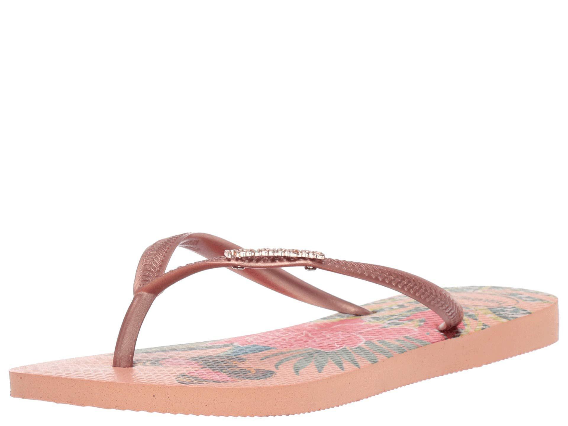 915a083cd285 Havaianas - Pink Slim Tropical Flip Flops (black graphite) Women s Sandals  - Lyst. View fullscreen