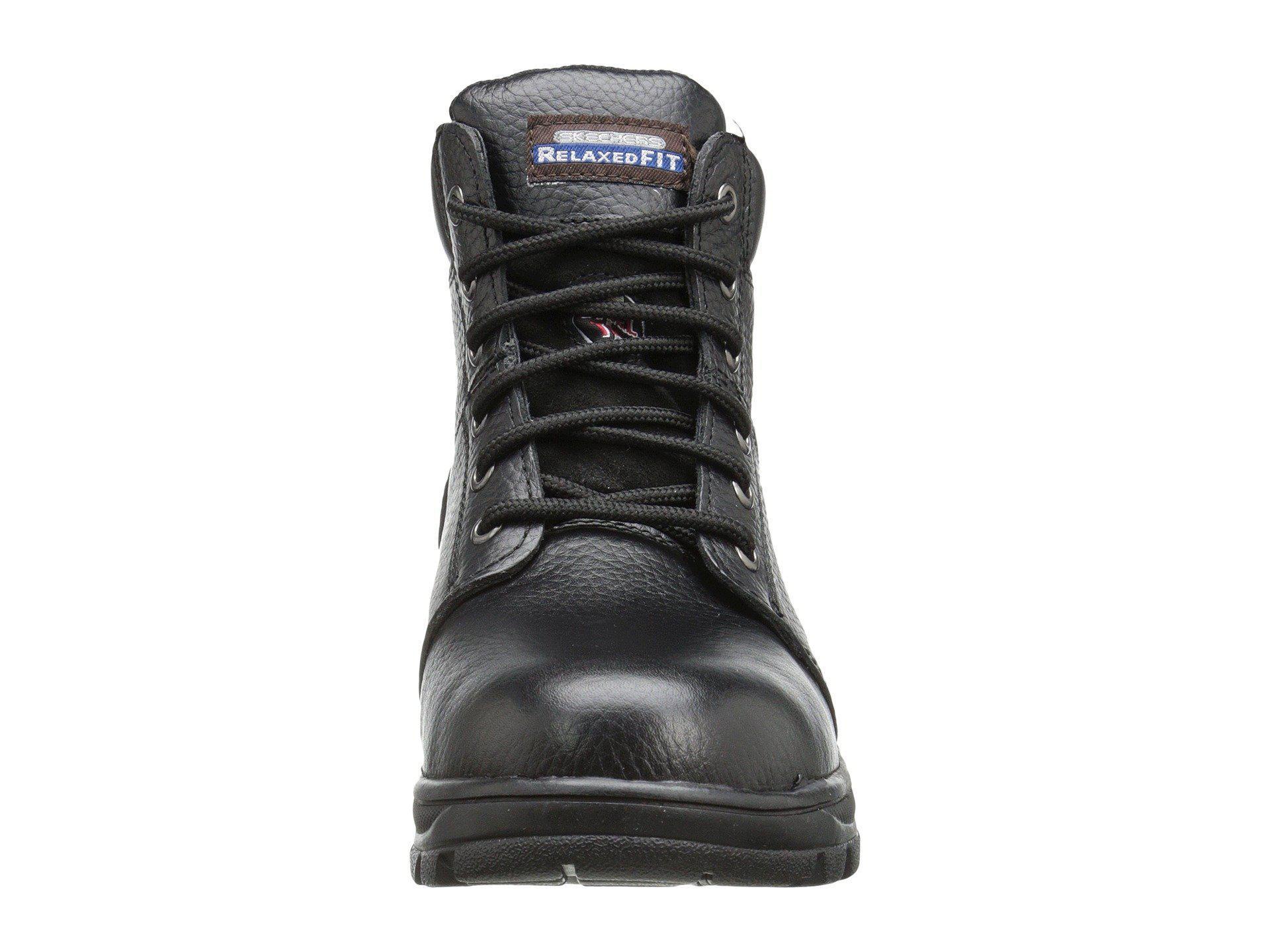 59f349742139 Skechers Work - Black Workshire - Peril (dark Brown Buffalo Crazy Horse  Leather) Women s. View fullscreen