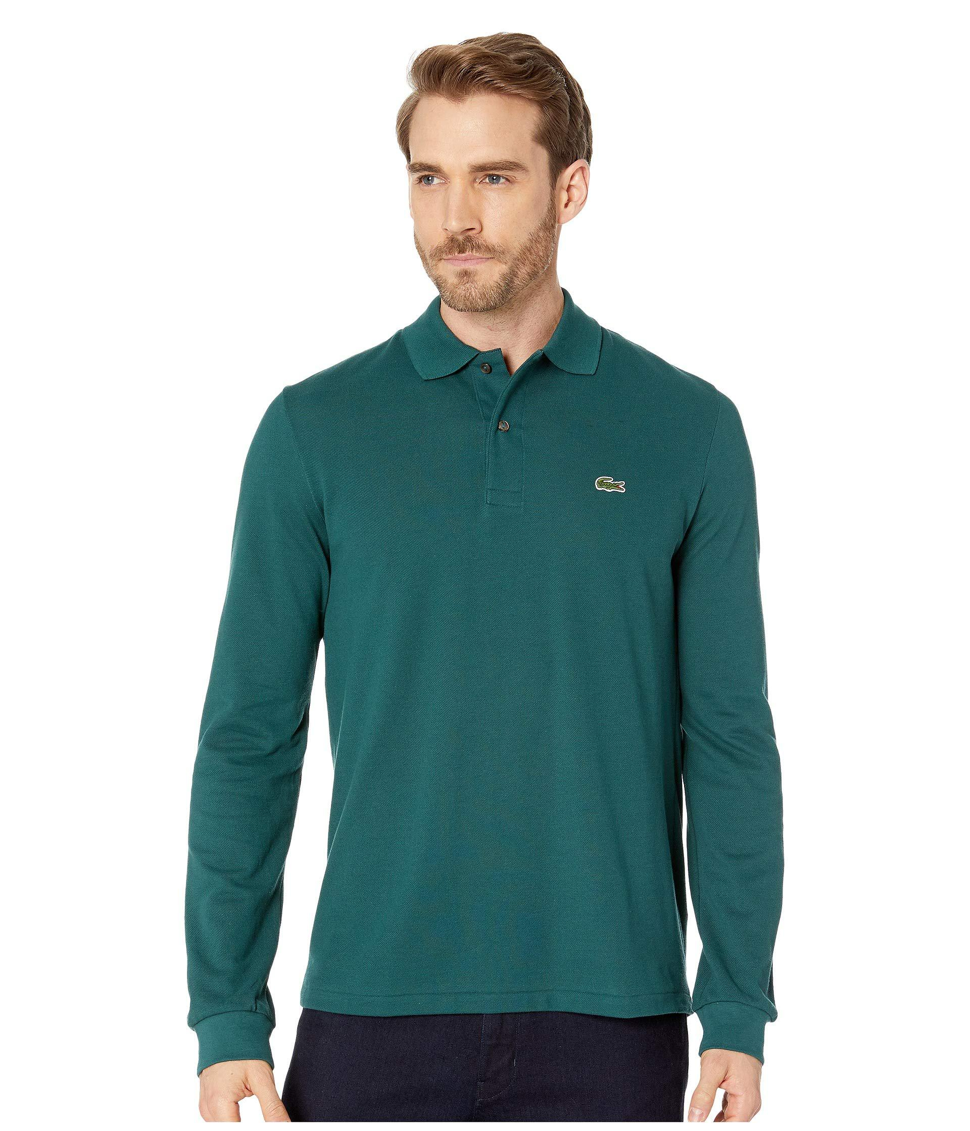 bc72ab35 Lacoste. Green Long Sleeve Classic Pique Polo Shirt (navy Blue) Men's ...