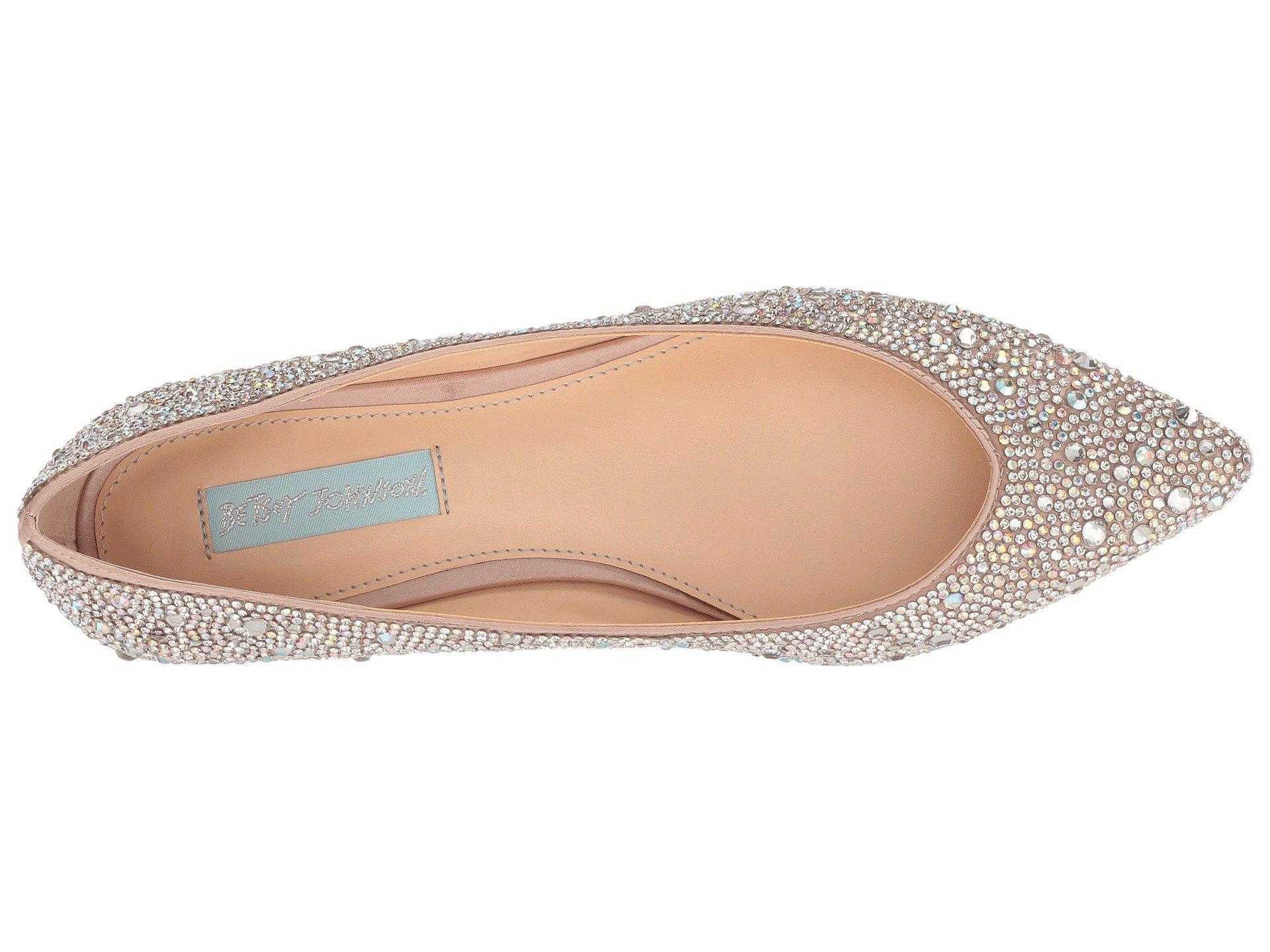 8c8e0c158d5 Lyst - Betsey Johnson Jude (nude Satin) Women s Dress Flat Shoes