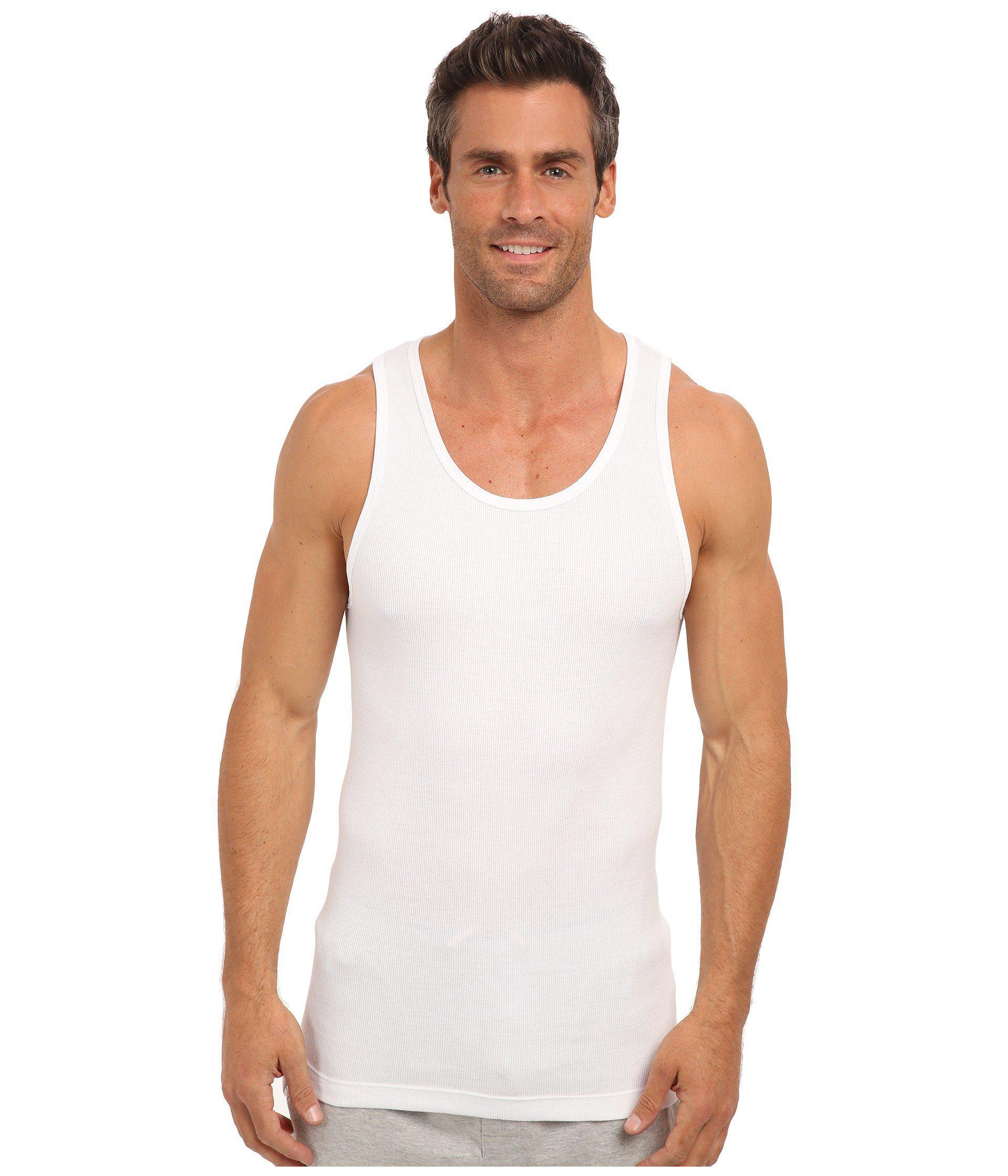 8870e22949cfd9 Lyst - Calvin Klein Cotton Classic Tank 3-pack Nm9070 (black) Men s  Underwear in White for Men