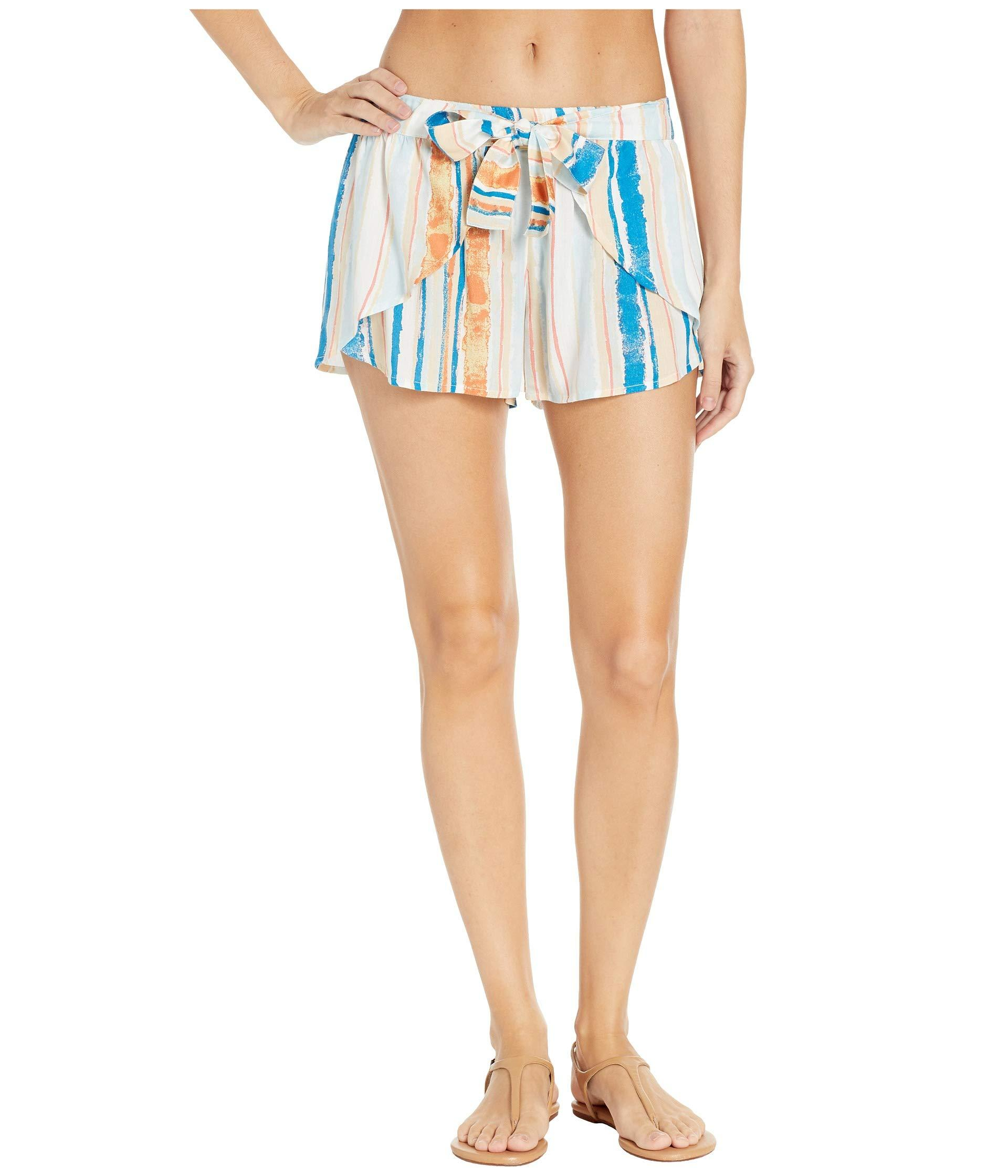 5538b8c9f86b9a Lyst - Roxy Lemon Chill Shorts Cover-up (anthracite New Flowers ...