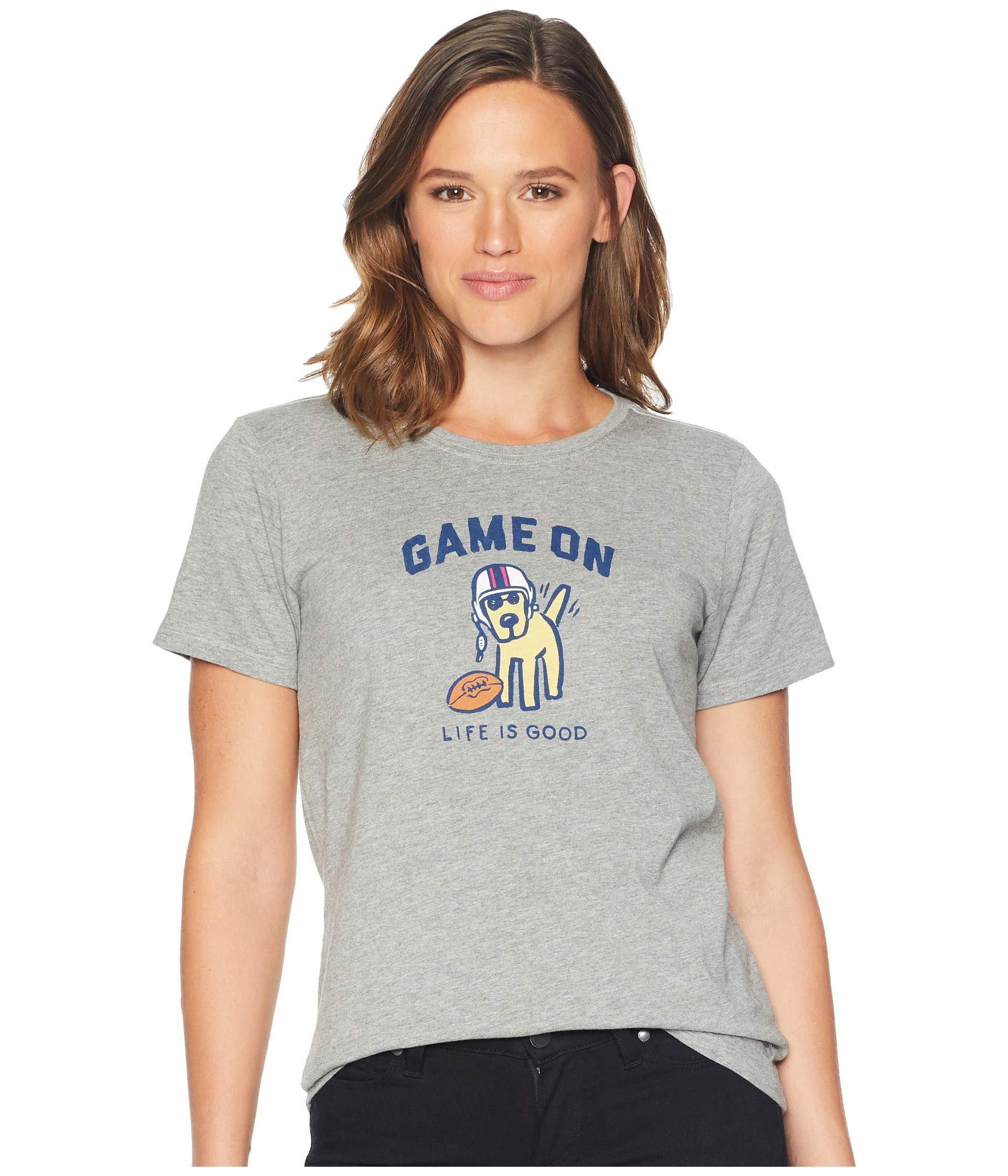 e27dc66cbc1 Lyst - Life Is Good. Game On Rocket Crusher T-shirt (heather Gray ...