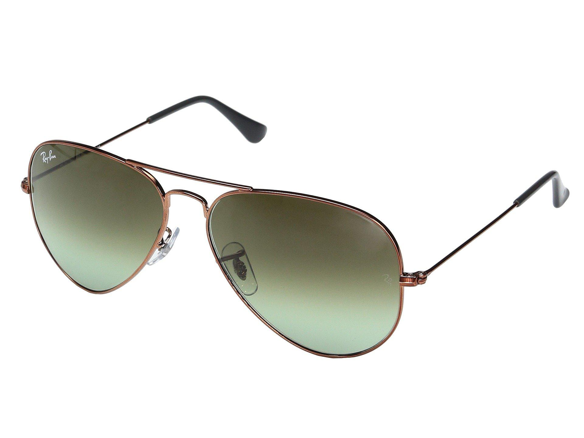 163033462d1 Lyst - Ray-Ban Rb3025 Original Aviator 58mm (matte Gold red Mirror ...