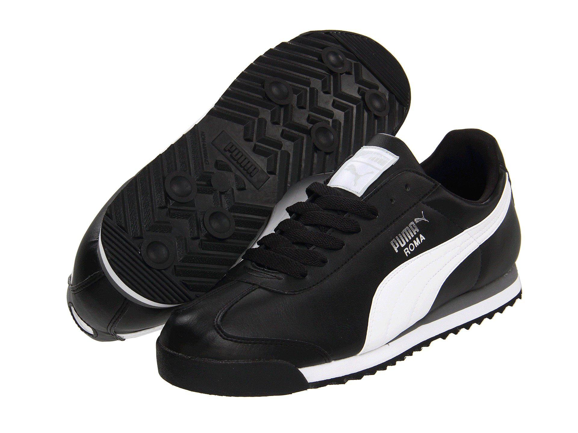 610b26473c4957 Lyst - PUMA Roma Basic (black black) Men s Shoes in Black for Men