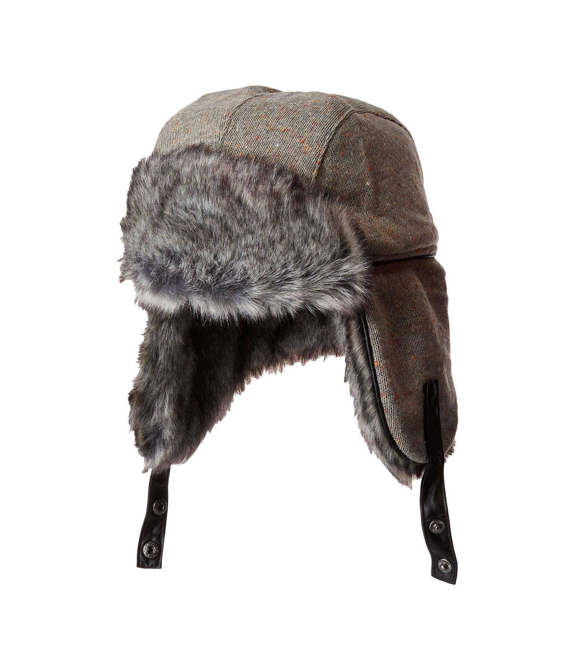 4a73c2d88 Lyst - Obermeyer Trapper Knit Hat W/ Faux Fur (grey Matter) Caps in ...