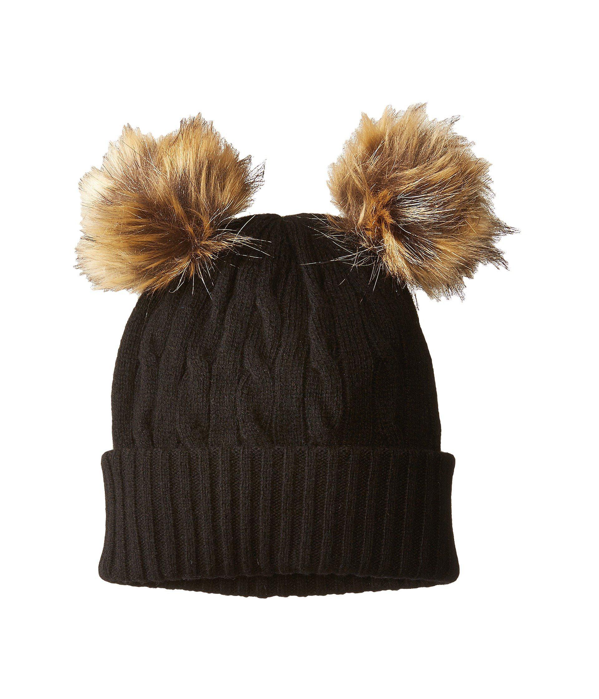 dda315fd7c5b75 Polo Ralph Lauren Double Pom Cashmere Blend Hat in Black - Lyst