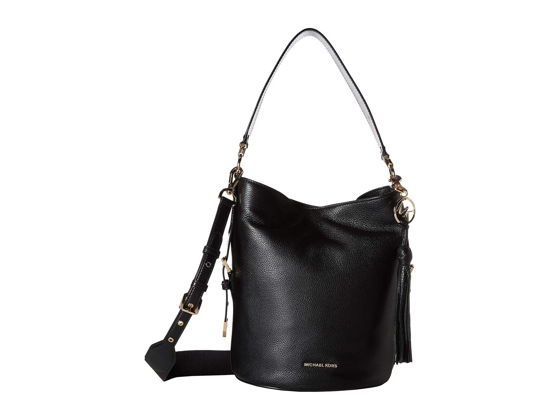 91d8f579a4dc MICHAEL Michael Kors. Women's Brooke Medium Bucket Messenger (black) Cross  Body Handbags