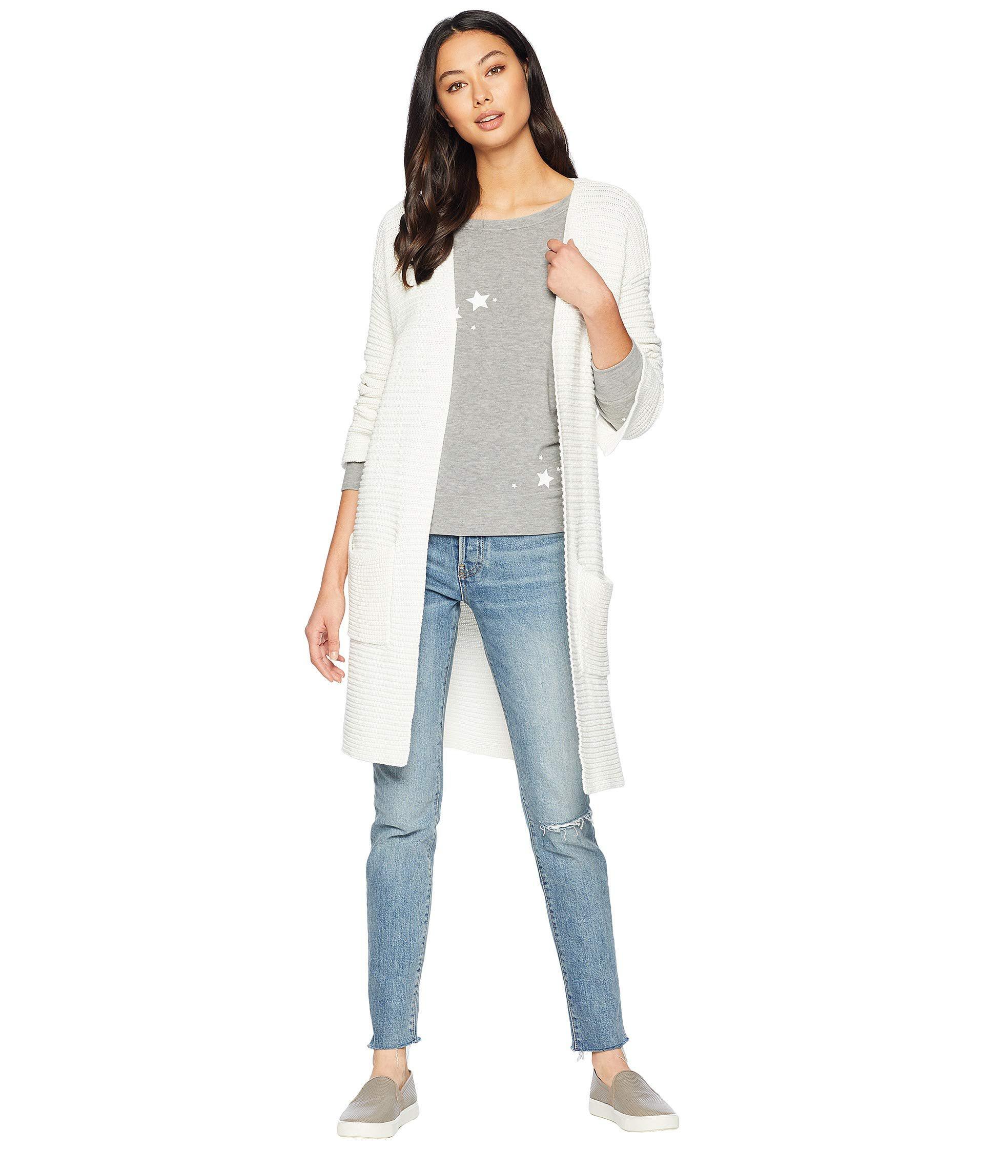 5aa2aad8061 Kensie. White Cotton Tube Yarn Cardigan Ks0k5822 (ivory cloud) Women s  Sweater