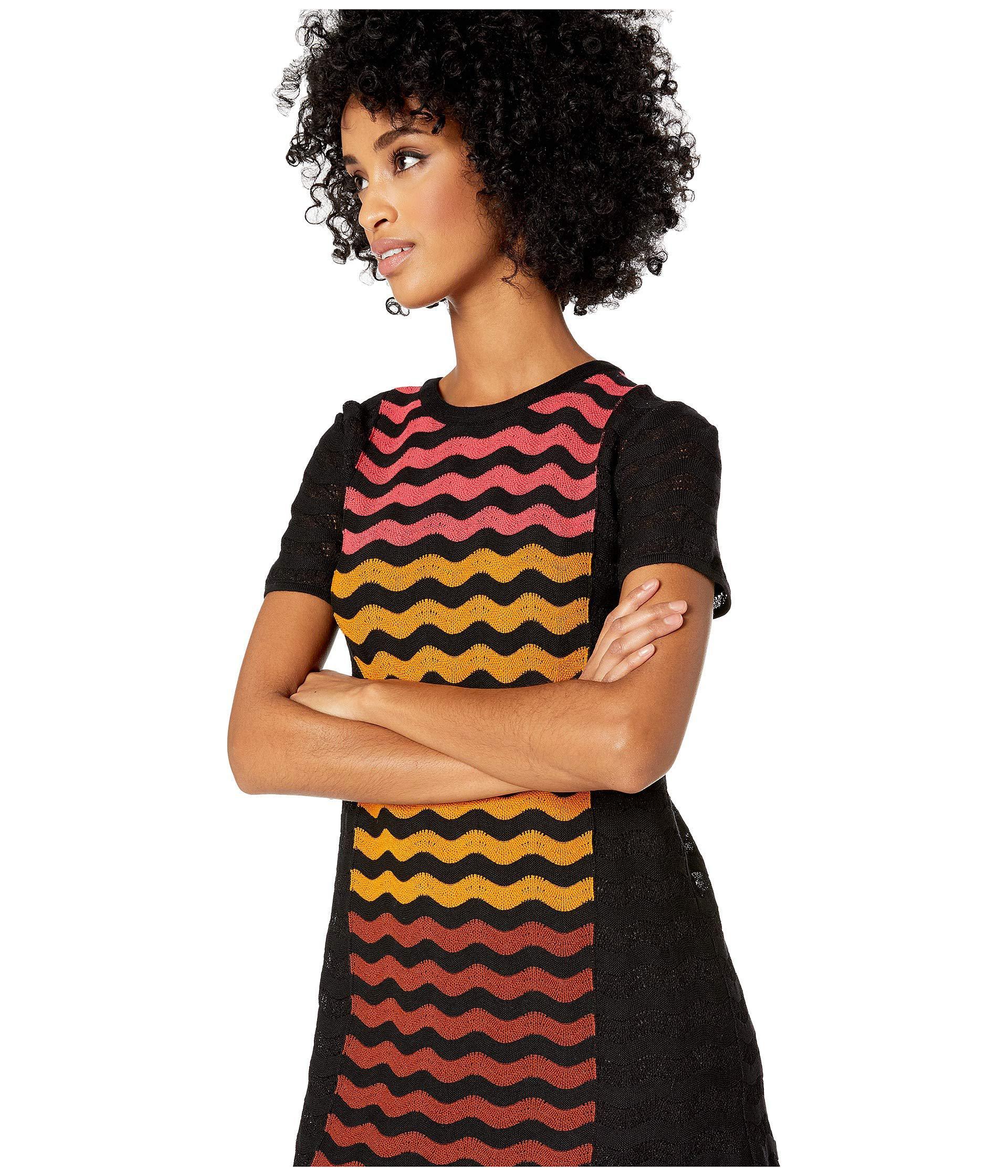 cb5447e139c9a9 M Missoni - Ripple Intarsia Short Sleeve Dress (black) Women s Dress -  Lyst. View fullscreen