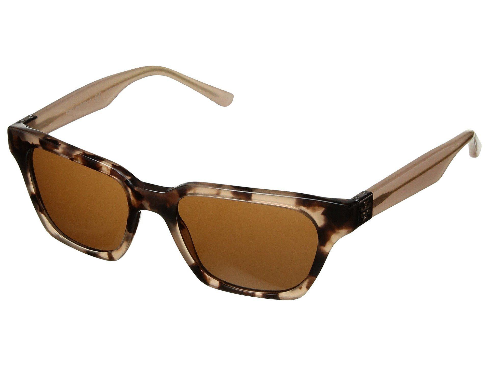 0e088964683c Tory Burch. Women's 0ty7119 51mm (blush Tortoise/solid Brown) Fashion  Sunglasses
