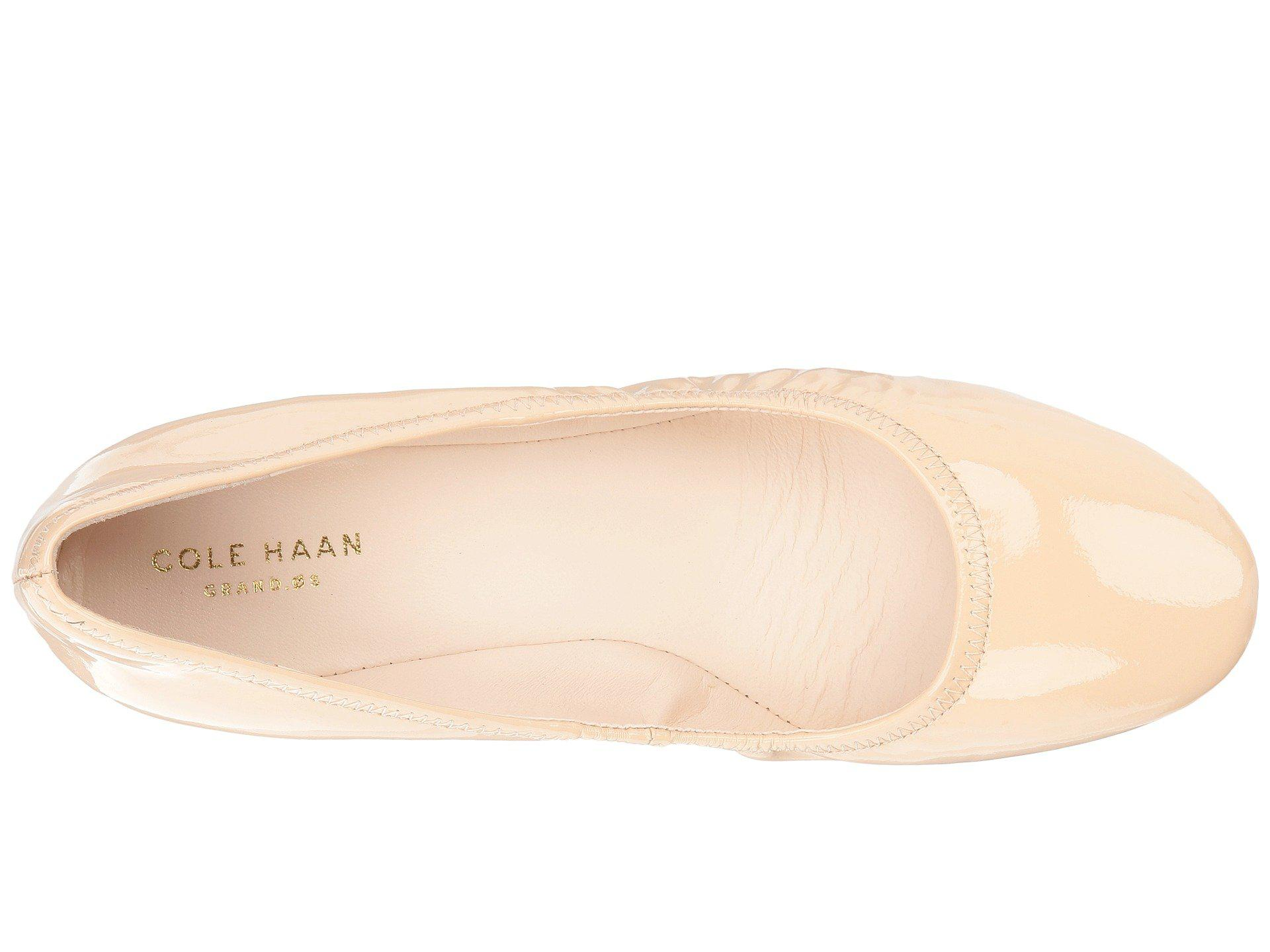 231fe662e2e Cole Haan - Natural Sadie Wedge 40mm (nude Patent) Women s Wedge Shoes -  Lyst. View fullscreen
