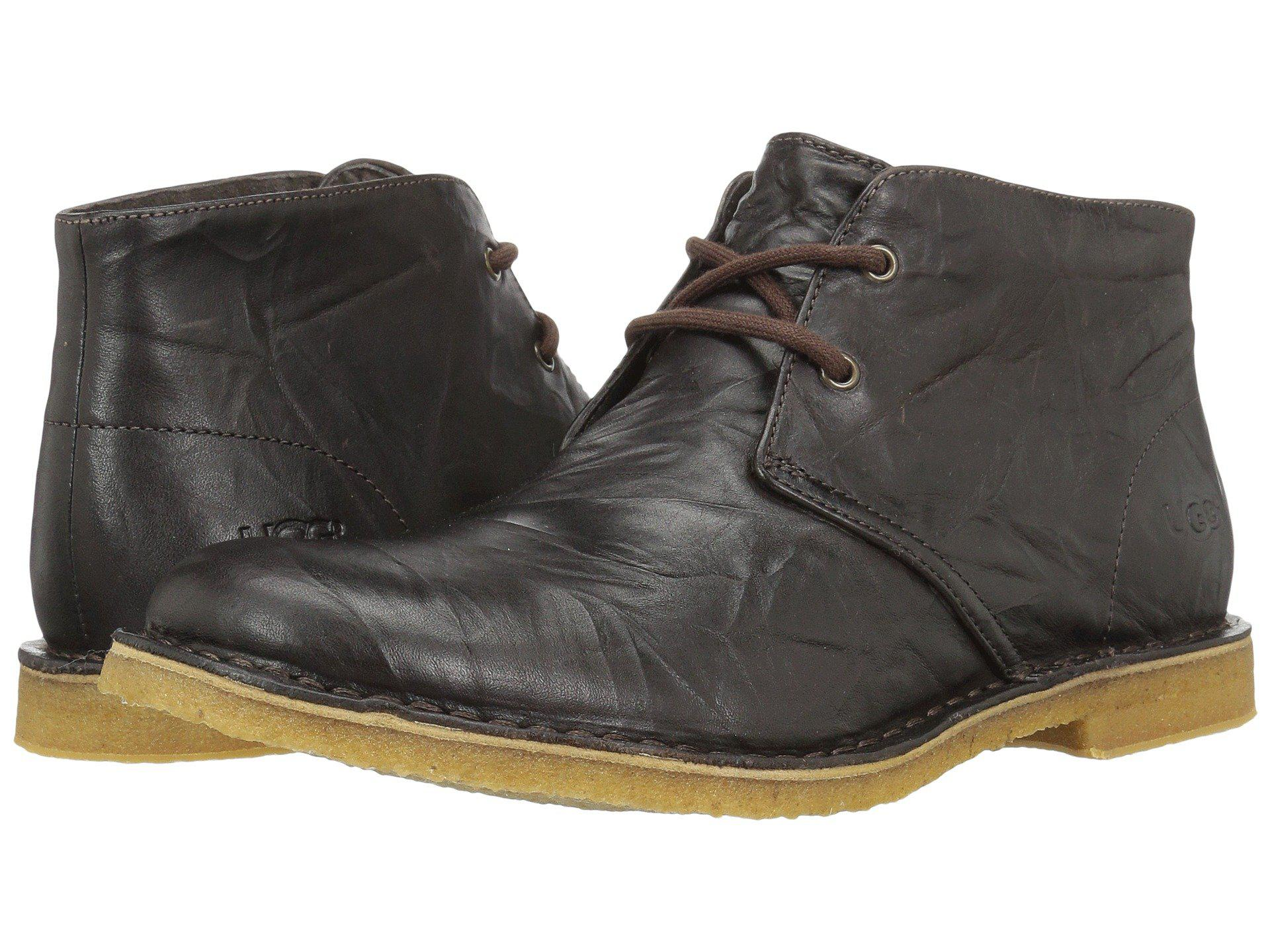 UGG. Brown Leighton (chocolate Leather) Men's Dress Lace-up Boots