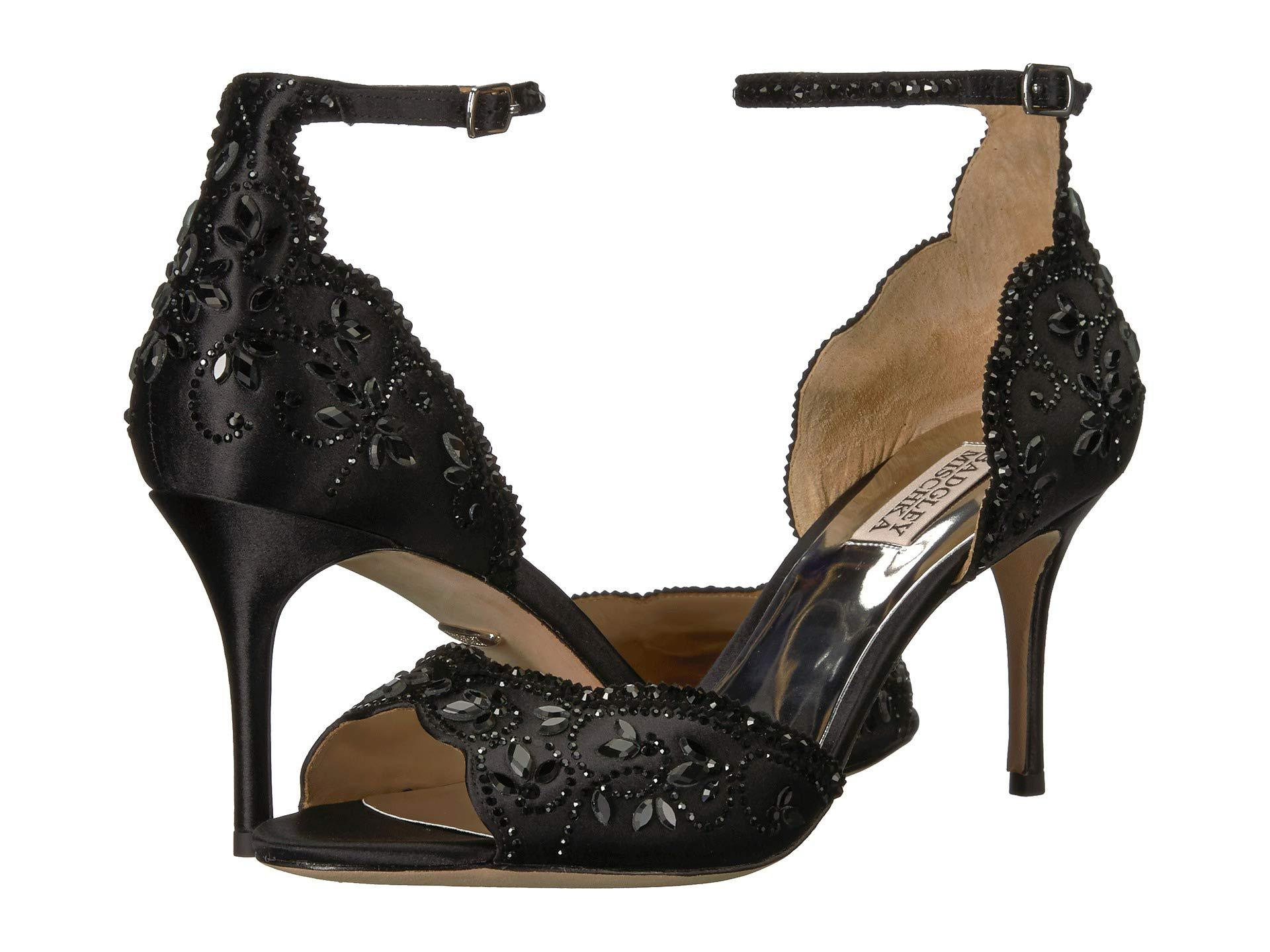 a901fa097e0 Lyst - Badgley Mischka Veta (black Satin) High Heels in Black