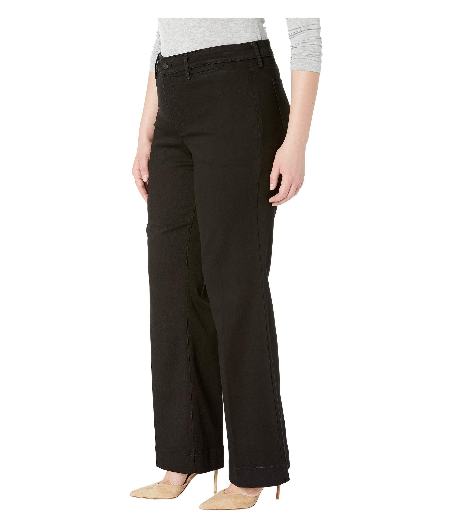bf65cacb906a0 Lyst - NYDJ Plus Size Teresa Trousers In Black (black) Women s Jeans in  Black