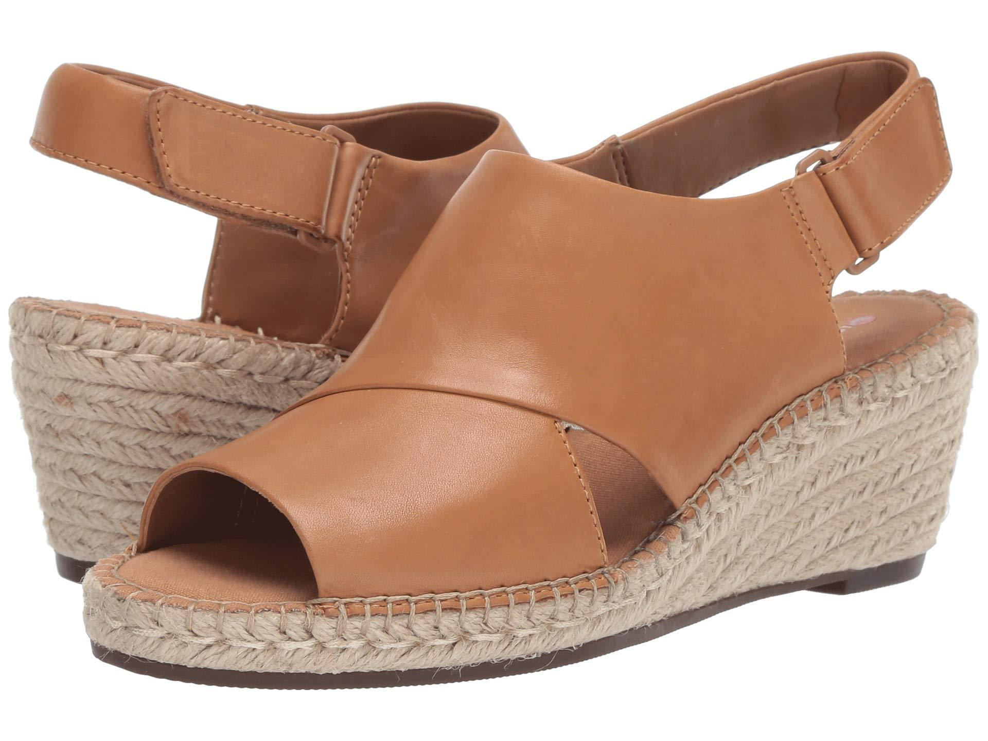 f29928dc5 Lyst - Clarks Petrina Abby (light Tan Leather) Women s Wedge Shoes ...