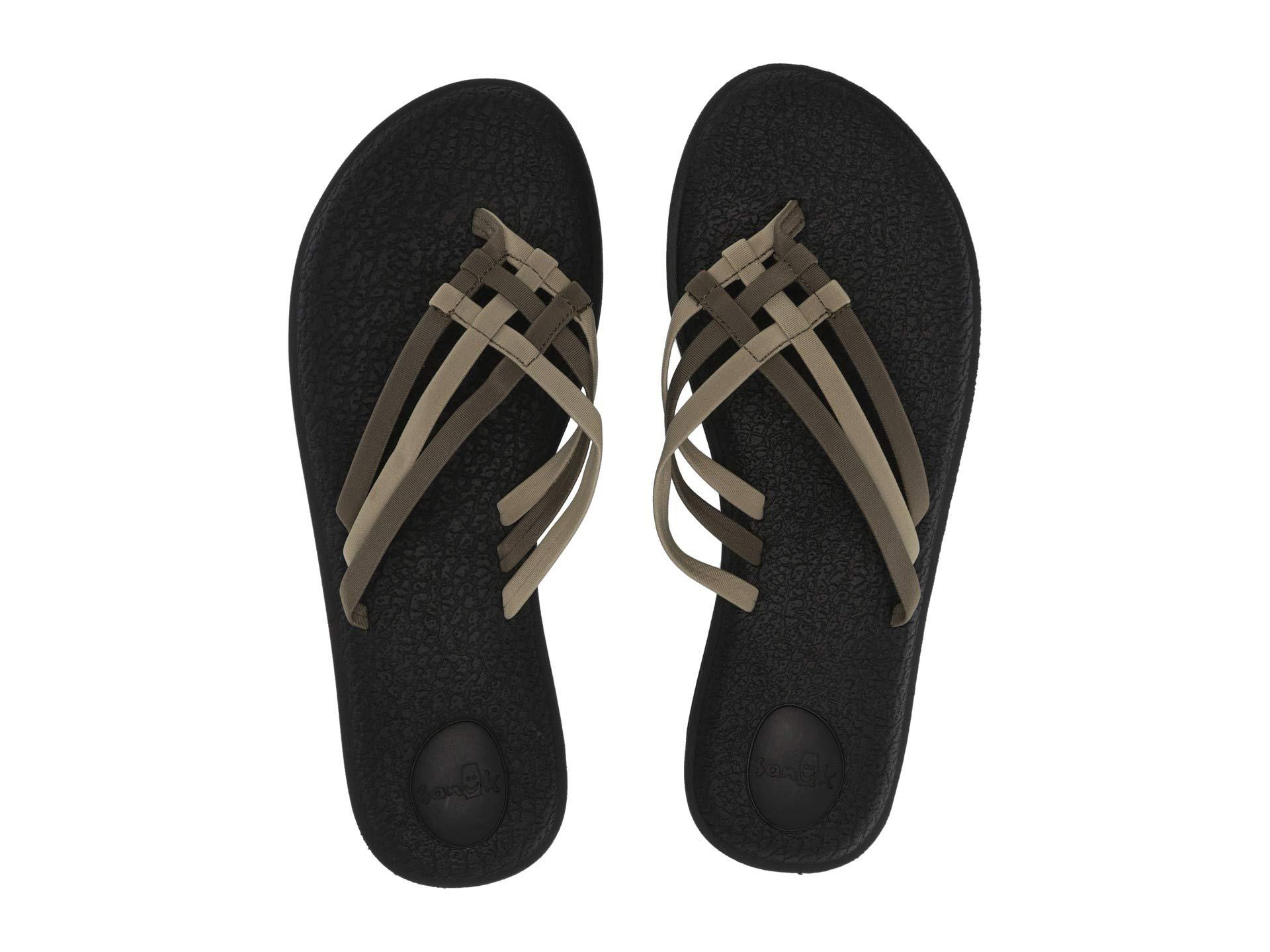 159d7904149e5f Lyst - Sanuk Yoga Salty (black 2) Women s Sandals in Green