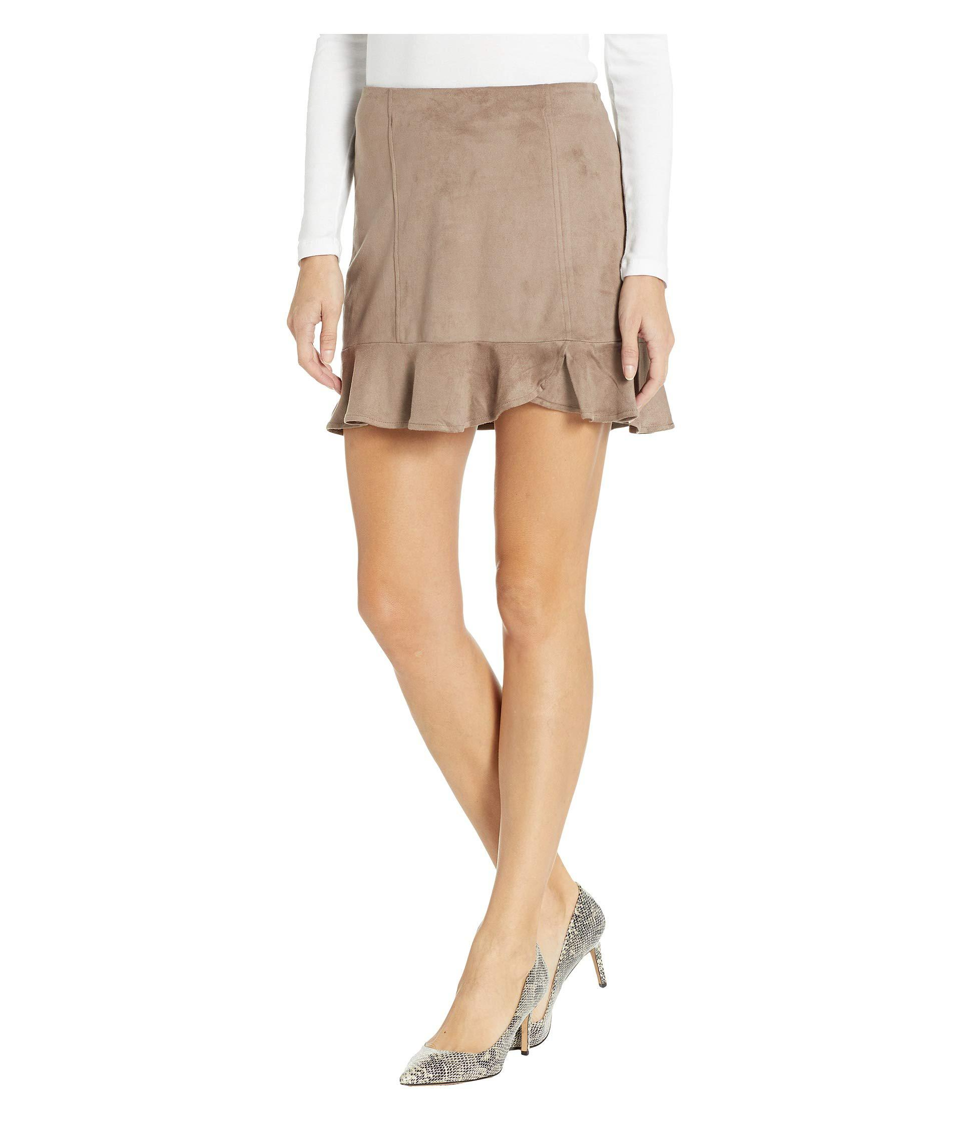 f2be54f6b8 Lyst - Jack BB Dakota Sagittarius Faux Suede Ruffle Skirt (black) Women's  Skirt in Brown
