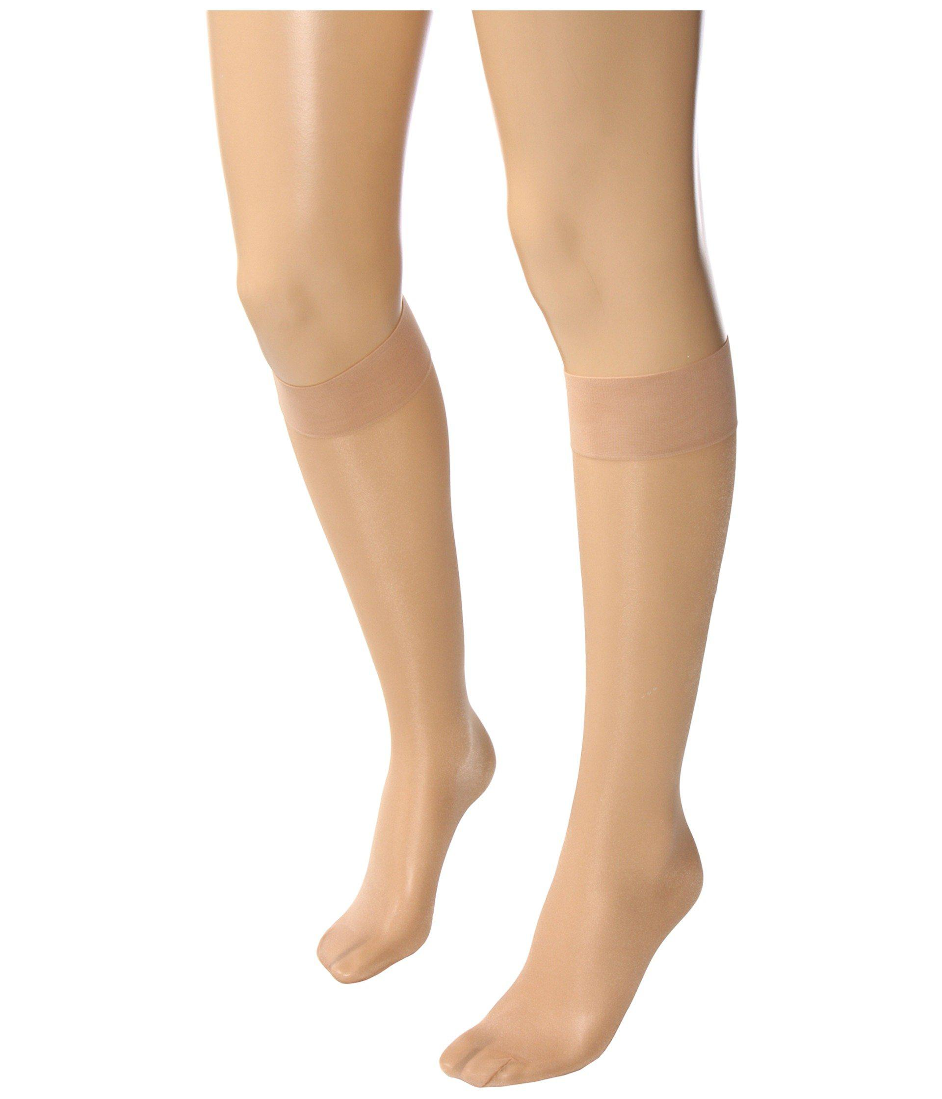 ced4e47a6 Lyst - Wolford Satin Touch 20 Knee-highs (cosmetic) Women s Knee High Socks  Shoes