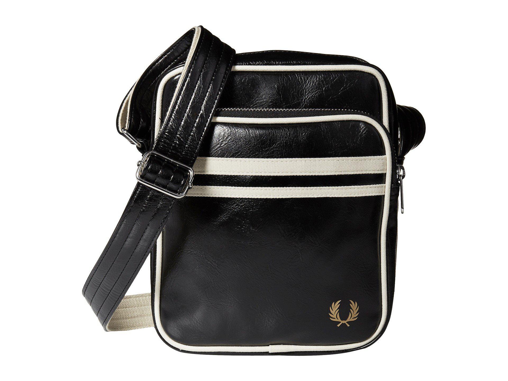 445cc7226245 Lyst - Fred Perry Twin Tipped Crossbody Bag (black ecru) Bags in ...