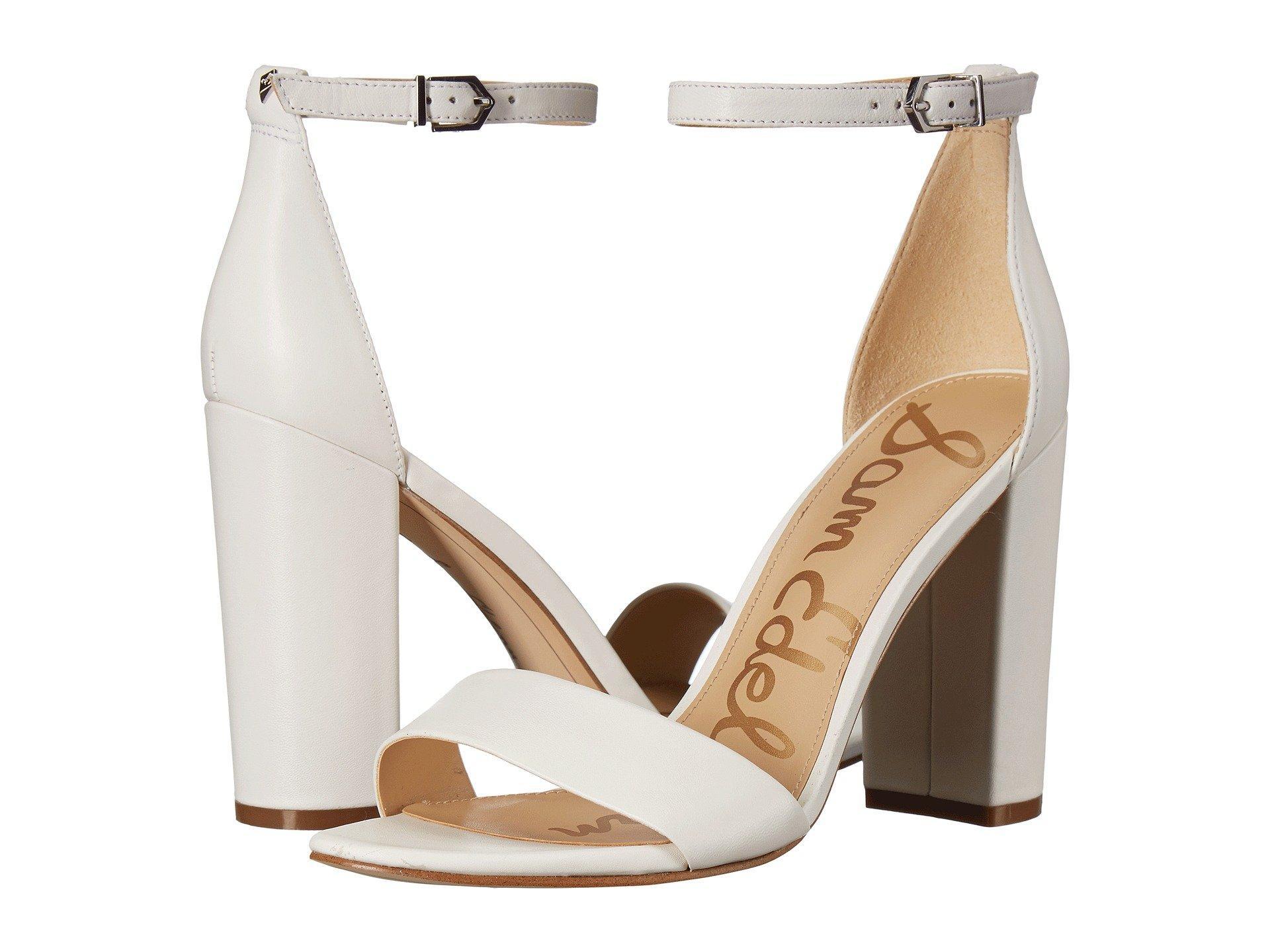 18a770924d55 Lyst - Sam Edelman Yaro Ankle Strap Sandal Heel (new Nude Leopard ...