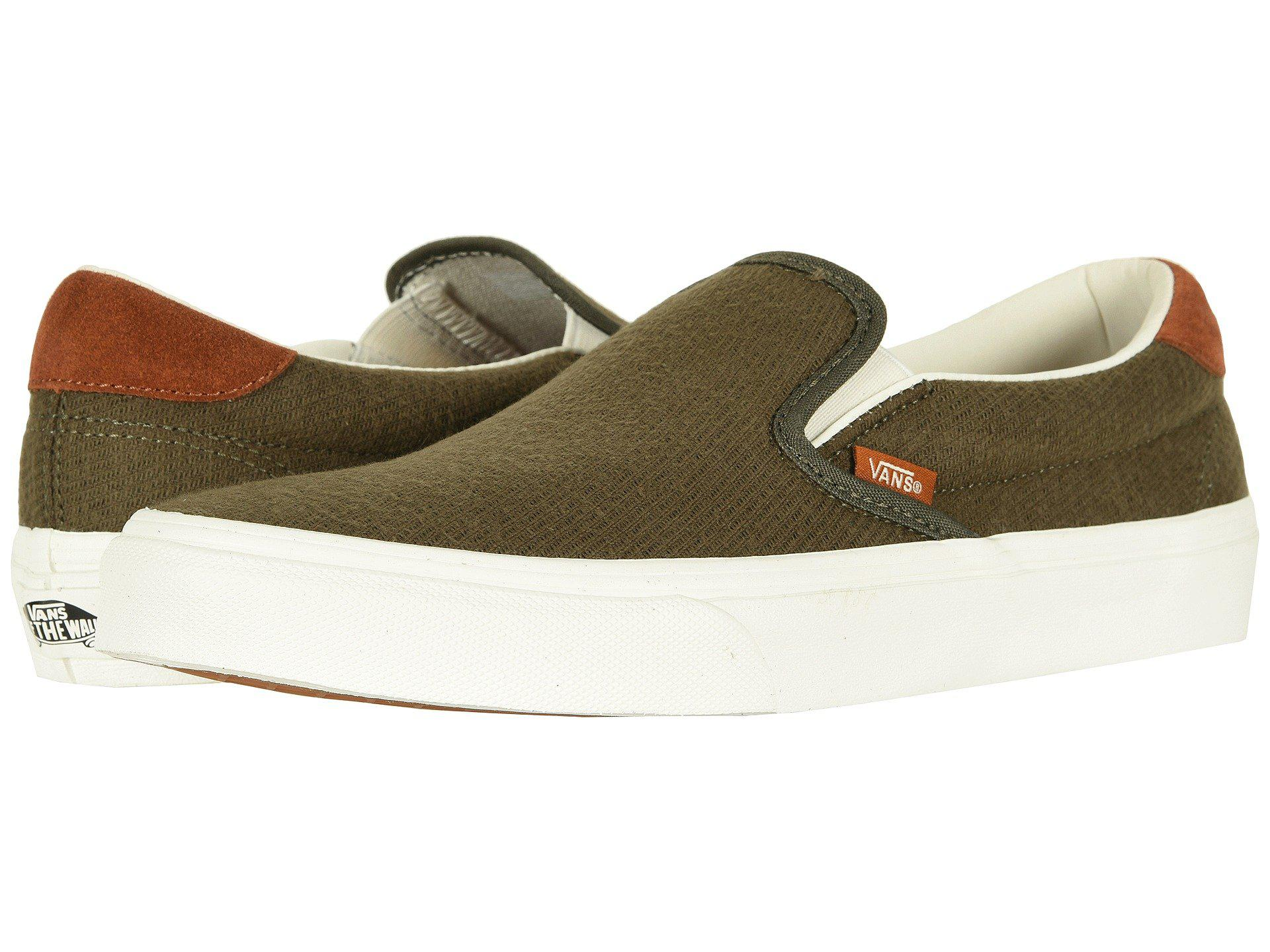 e223aba595 Lyst - Vans Slip-on 59 ((flannel) Dusty Olive) Skate Shoes in Green ...