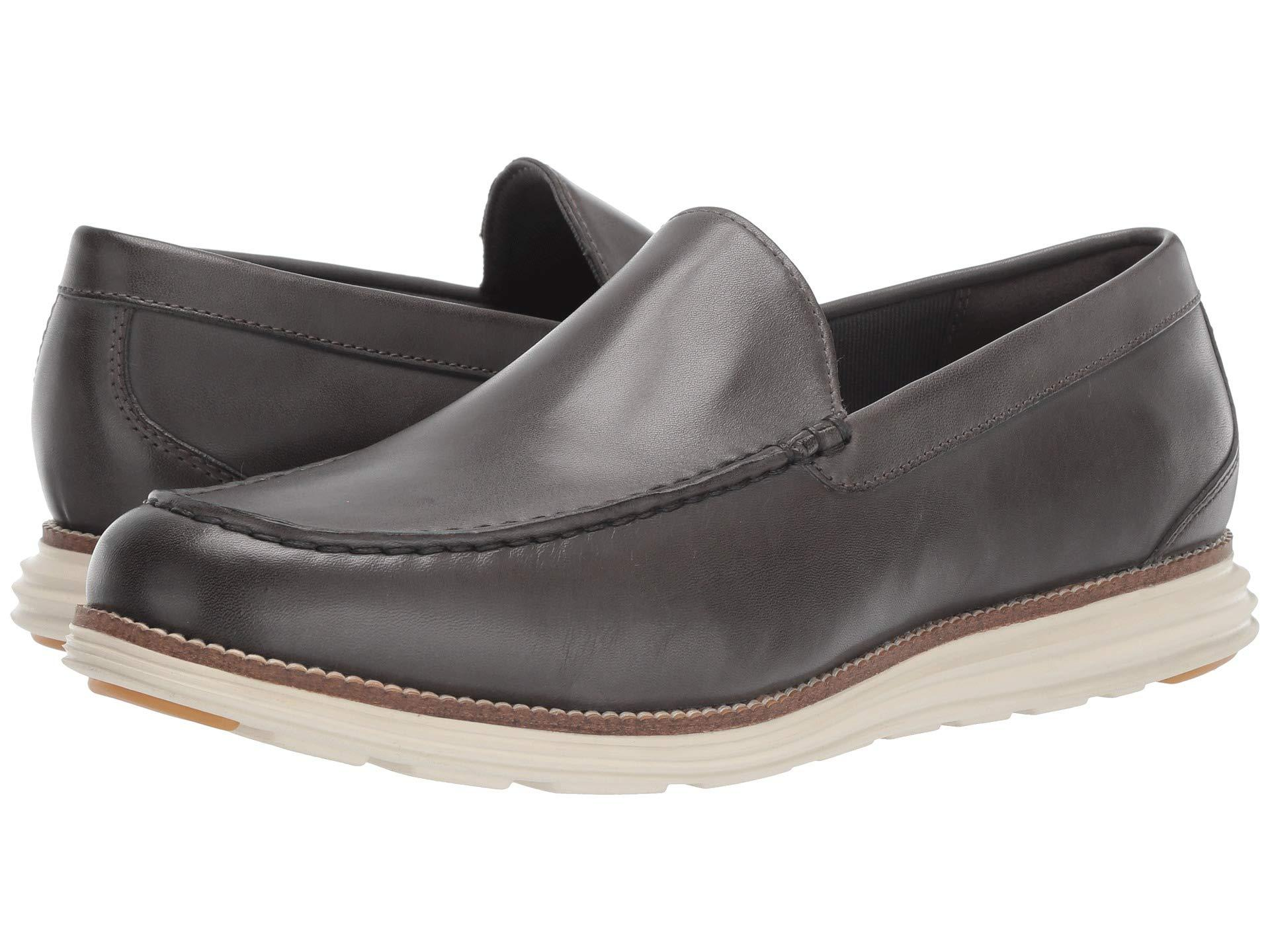 9676c09b16 Cole Haan. Black Original Grand Venetian (magnet Leather/ivory) Men's ...
