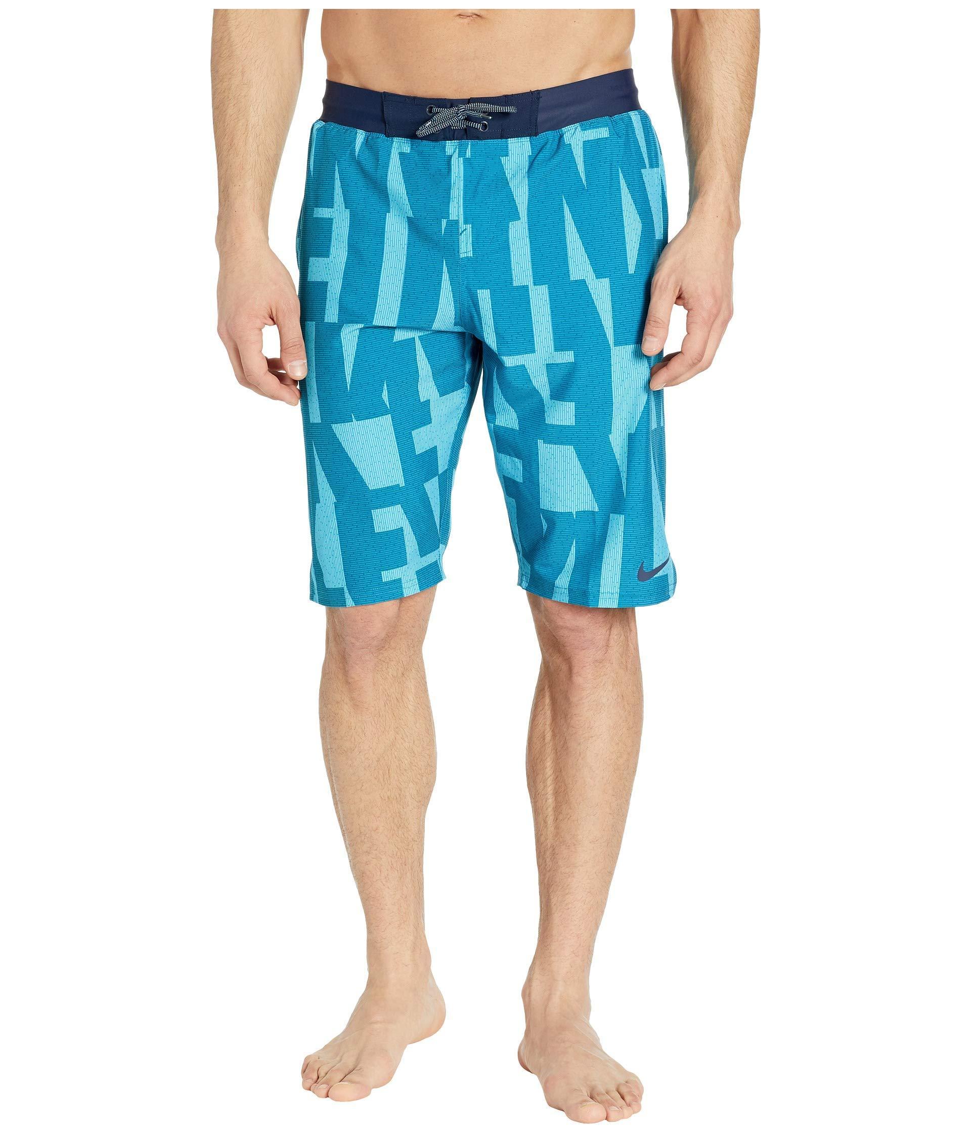 2107a048 Nike. Blue 11 Vector Vital Volley Shorts (green Abyss) Men's Swimwear