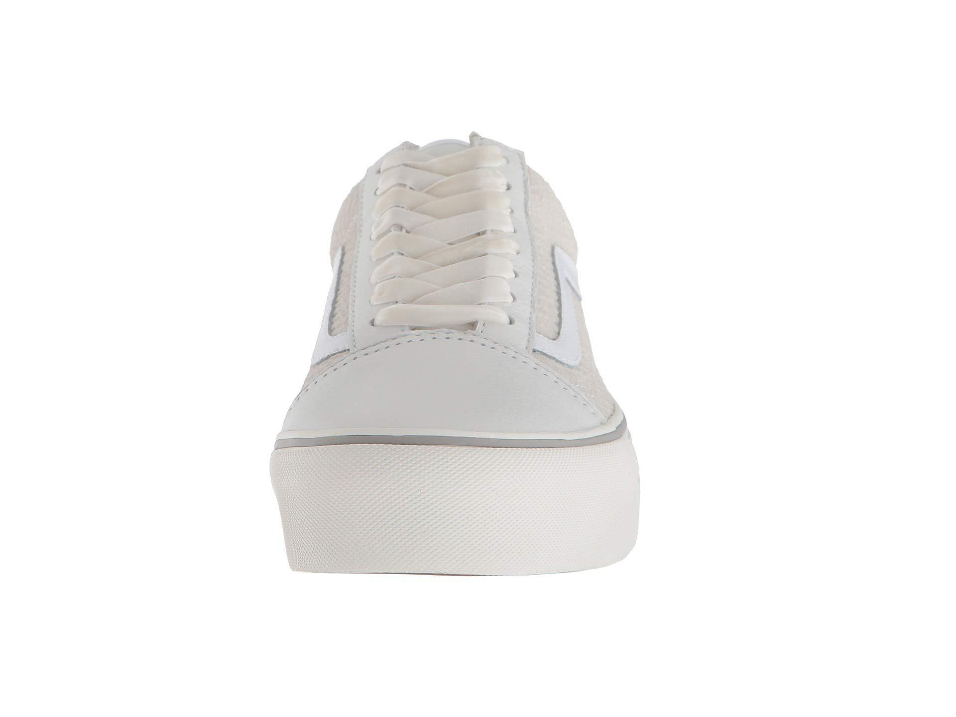 f2045cd3e4c Lyst - Vans Old Skool Platform ((leather) Snake white) Skate Shoes ...