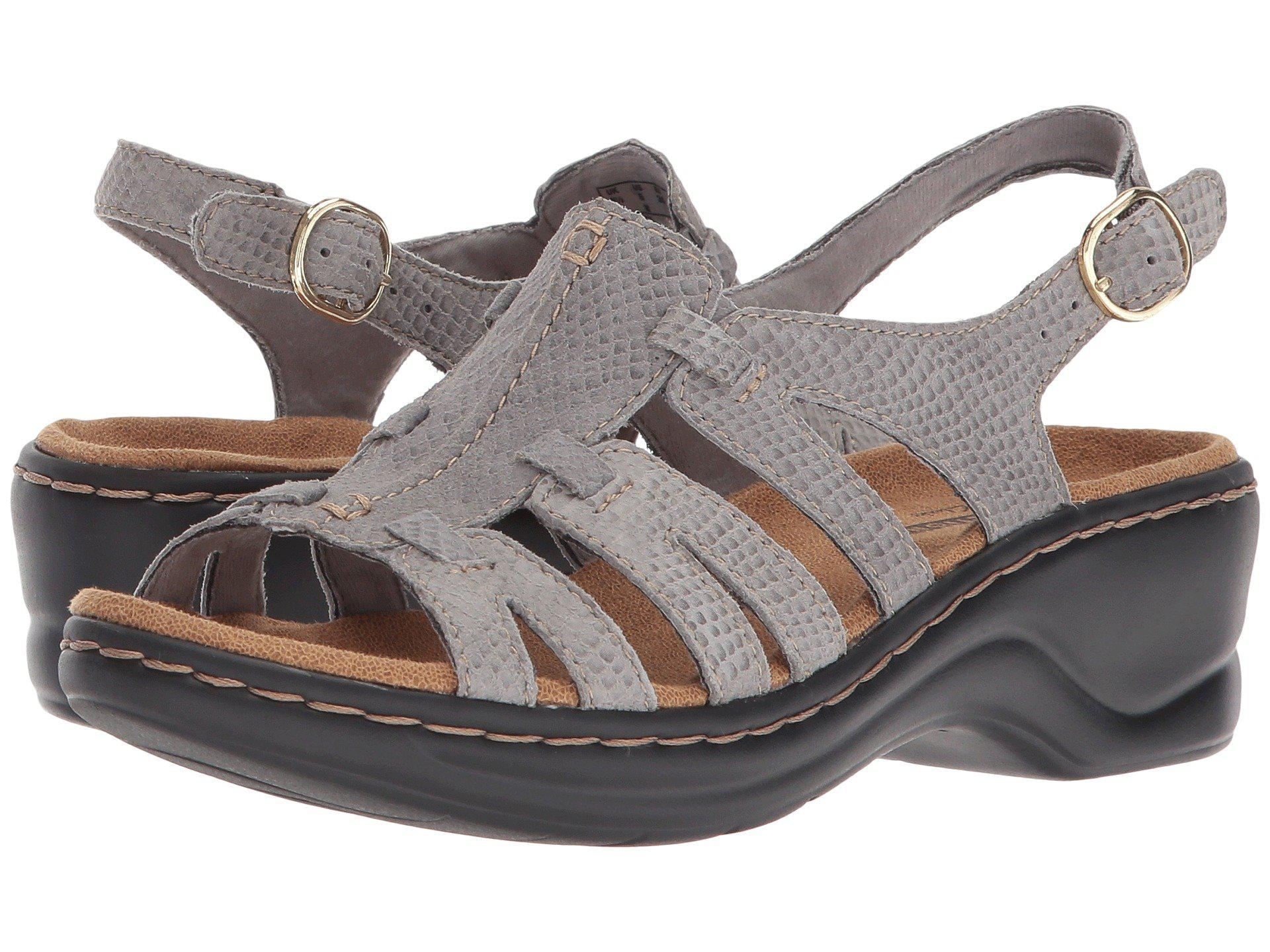 99c5307bd5bf4a Lyst - Clarks Lexi Marigold Q (white Leather) Women s Sandals in Gray