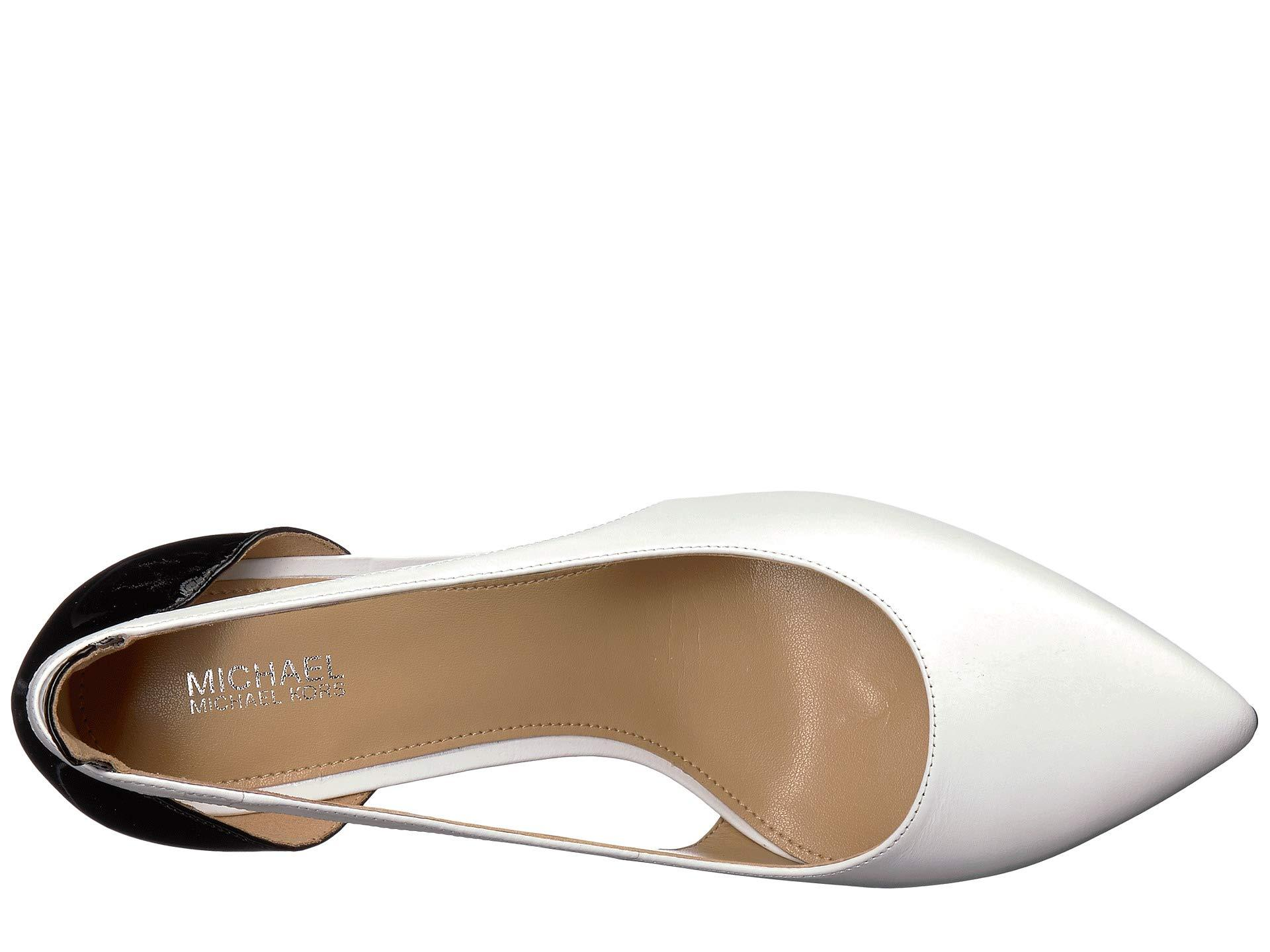 884c68f6c2fd MICHAEL Michael Kors - Cersei Pump (optic White black Vachetta patent)  Women s. View fullscreen