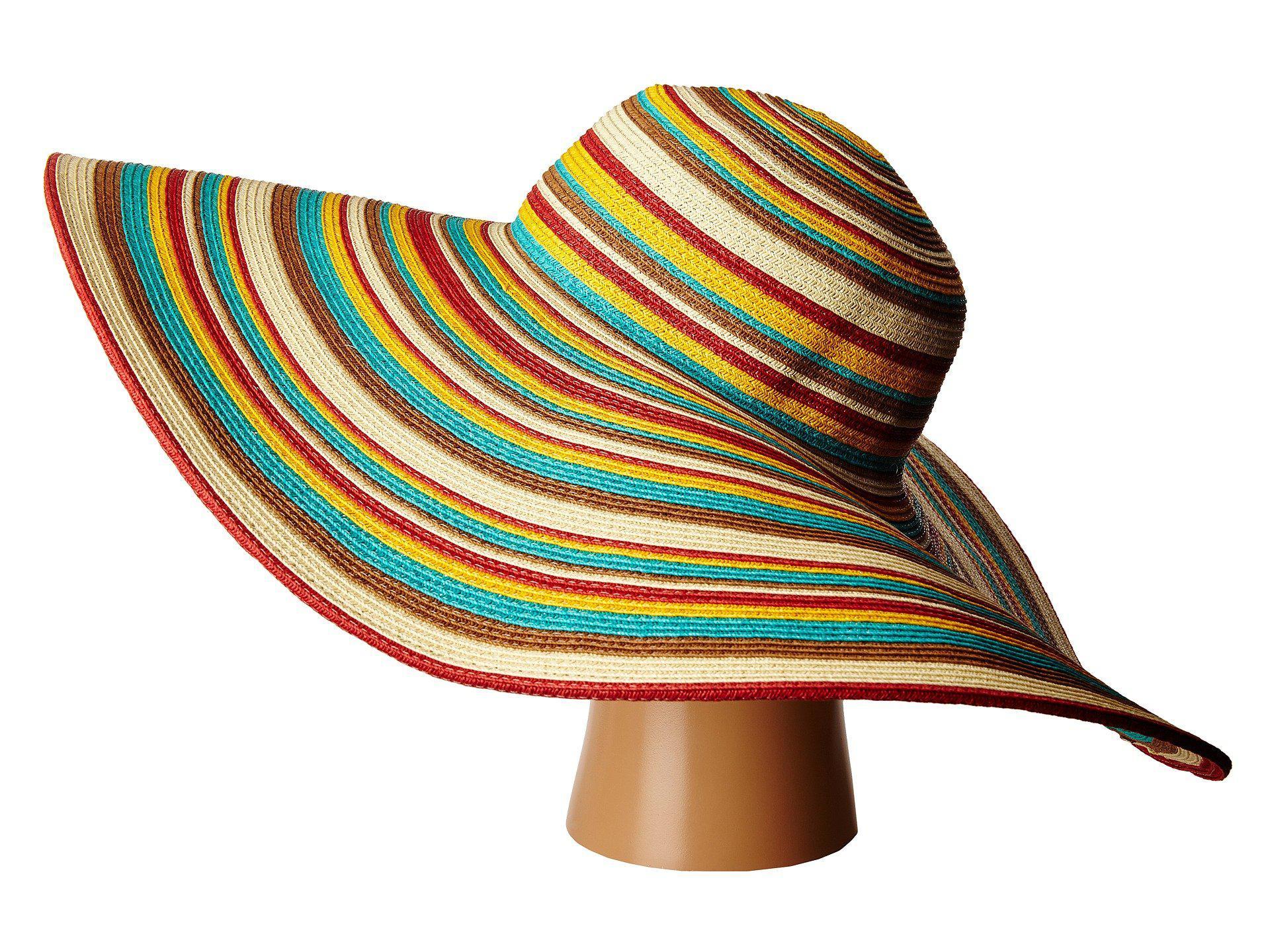 edc145d11fd San Diego Hat Company - Brown Ubx2721 Striped Floppy 8 Inch Brim Sun Hat  (multi. View fullscreen
